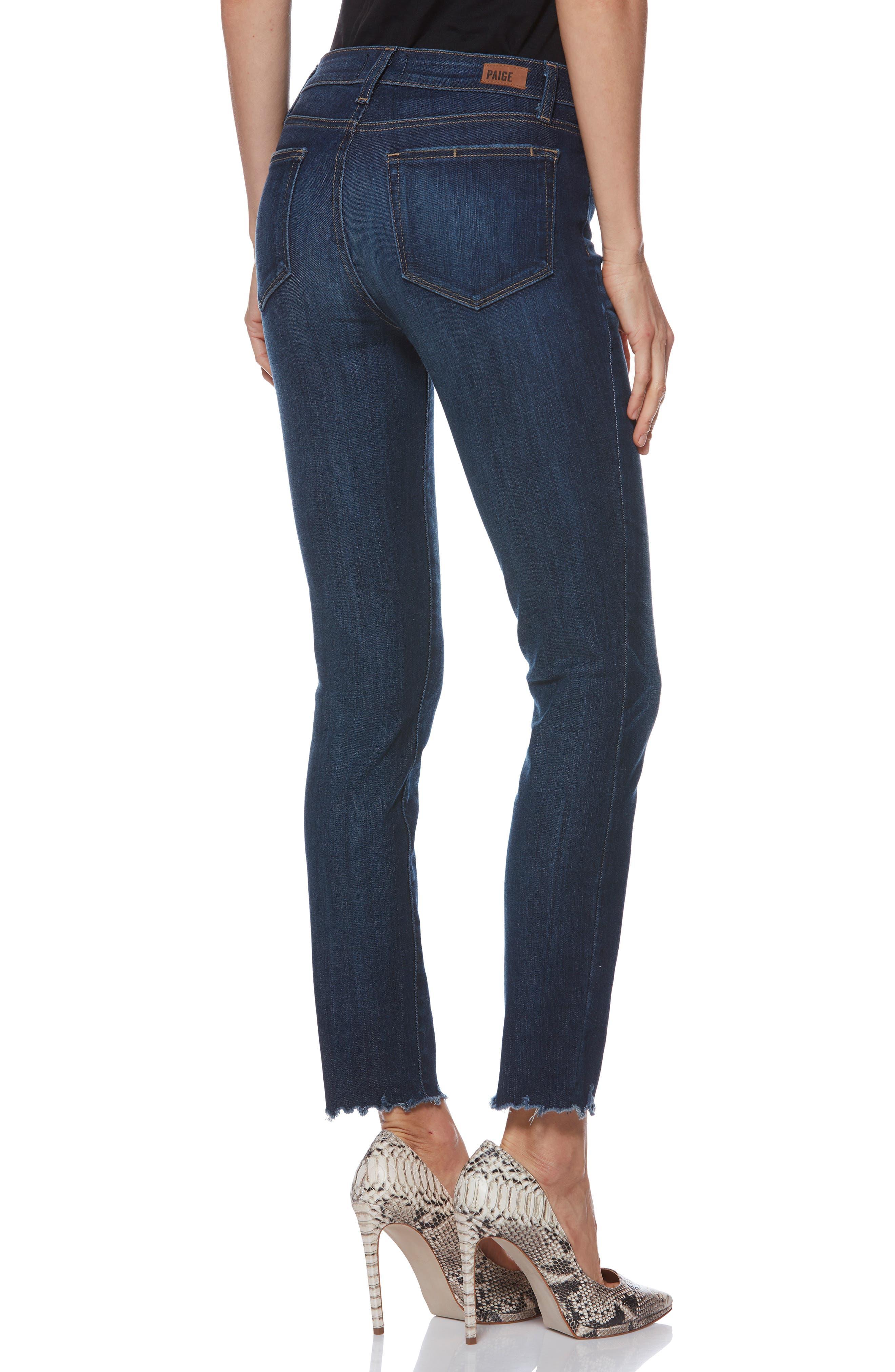 Verdugo Transcend Vintage Ankle Skinny Jeans,                             Alternate thumbnail 2, color,                             400