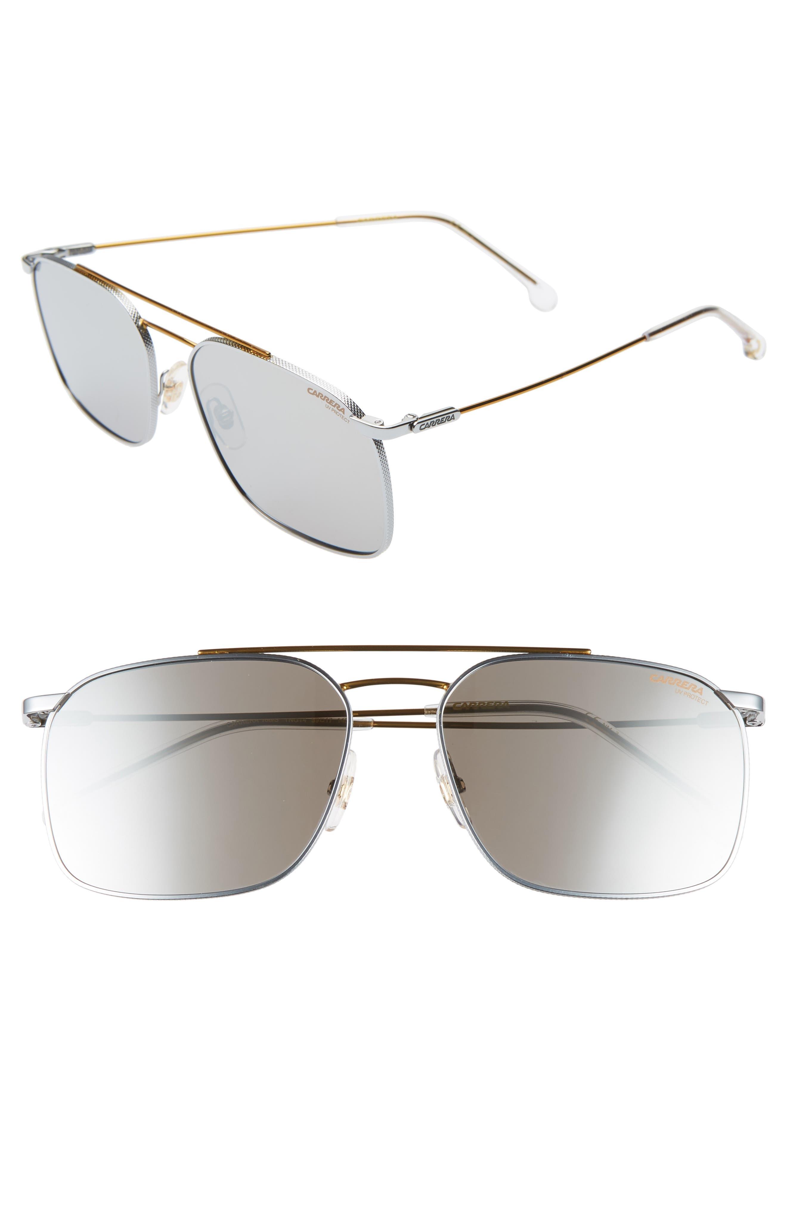 Carrera Eyewear 5m Aviator Sunglasses - Palladium Gold