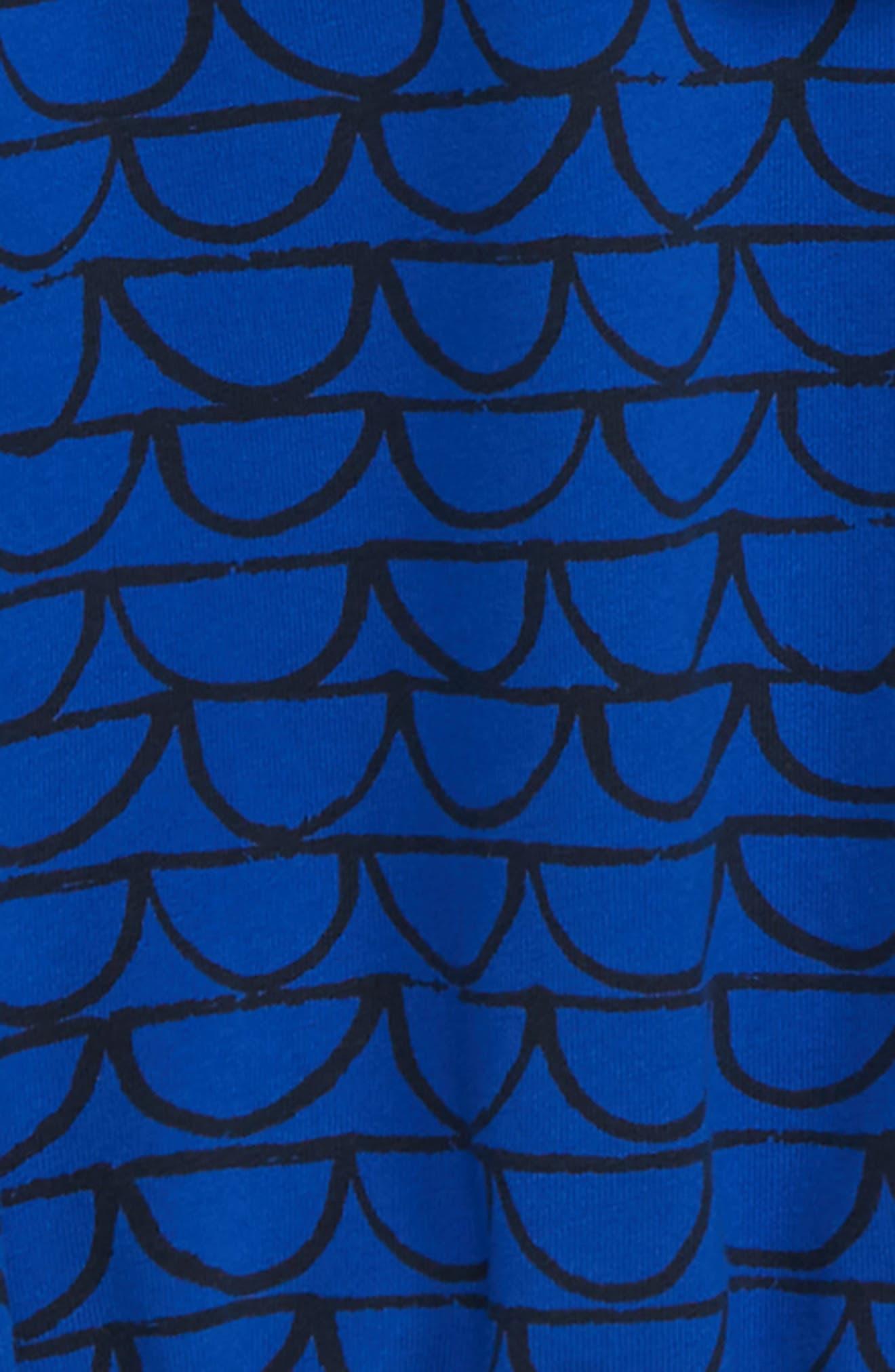 Ruffle Top,                             Alternate thumbnail 2, color,                             BLUE MAZARINE SCALLOPS