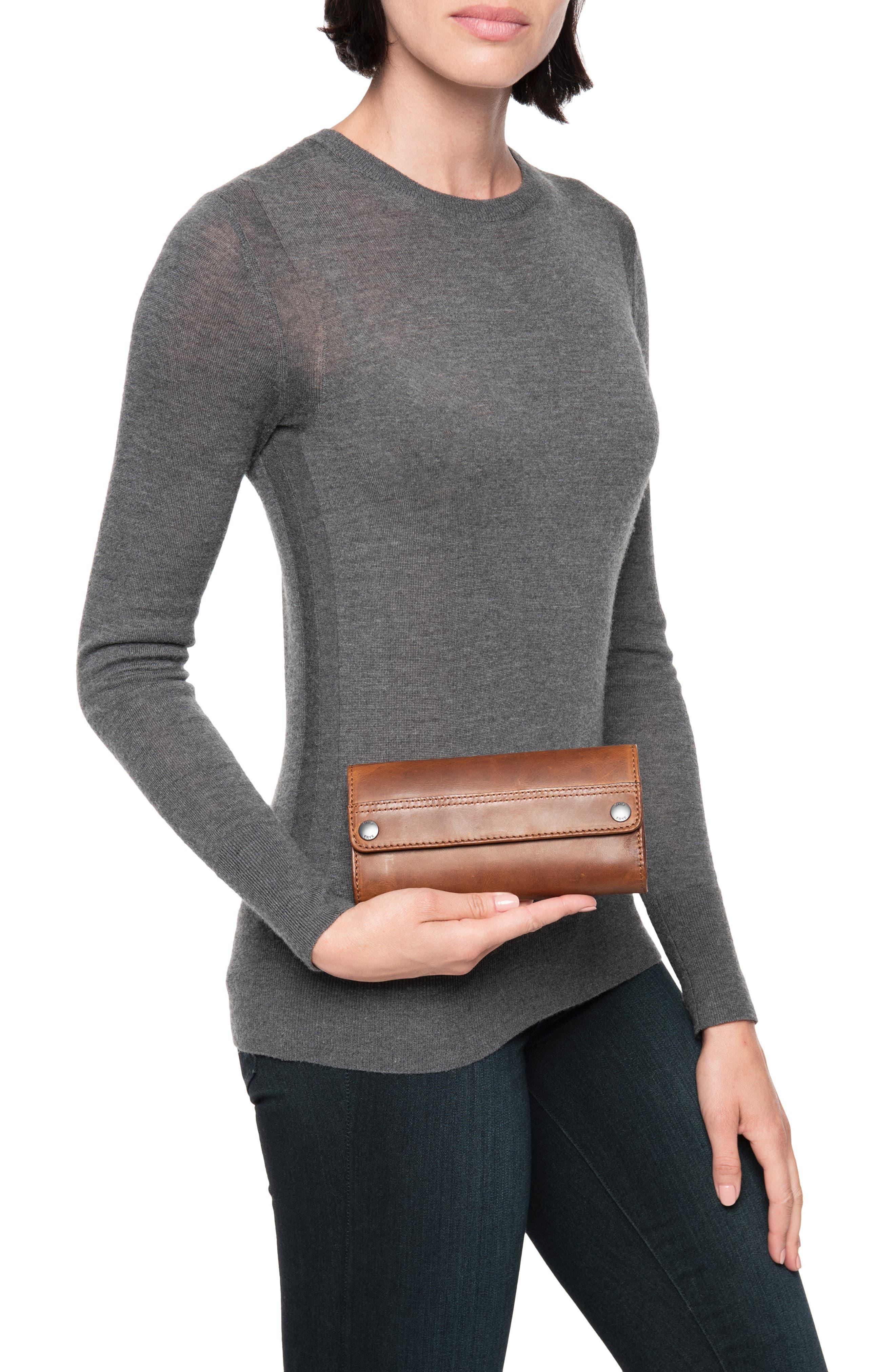 Melissa Leather Wallet,                             Alternate thumbnail 3, color,                             COGNAC