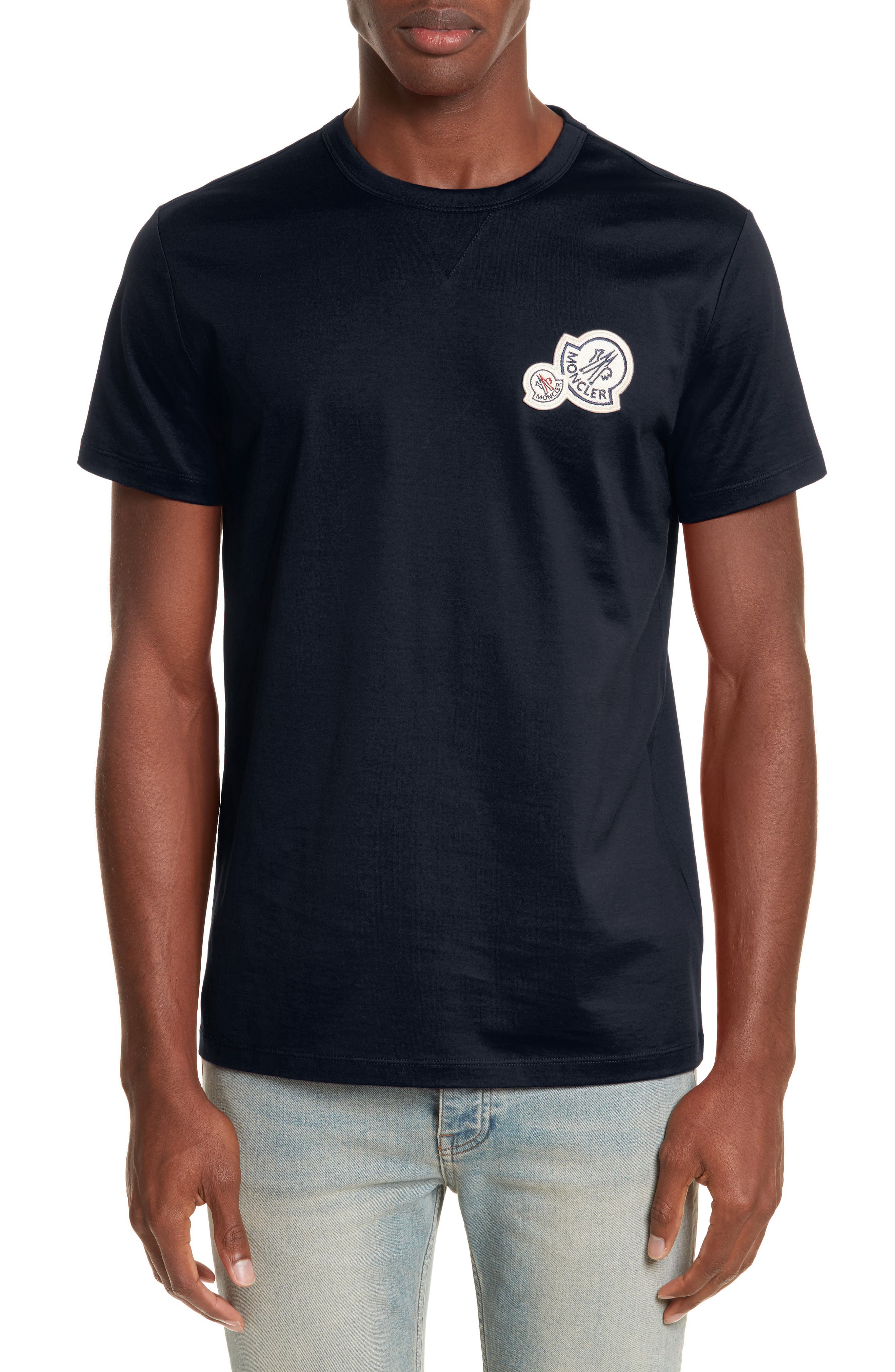 Patch T-Shirt,                         Main,                         color, NAVY