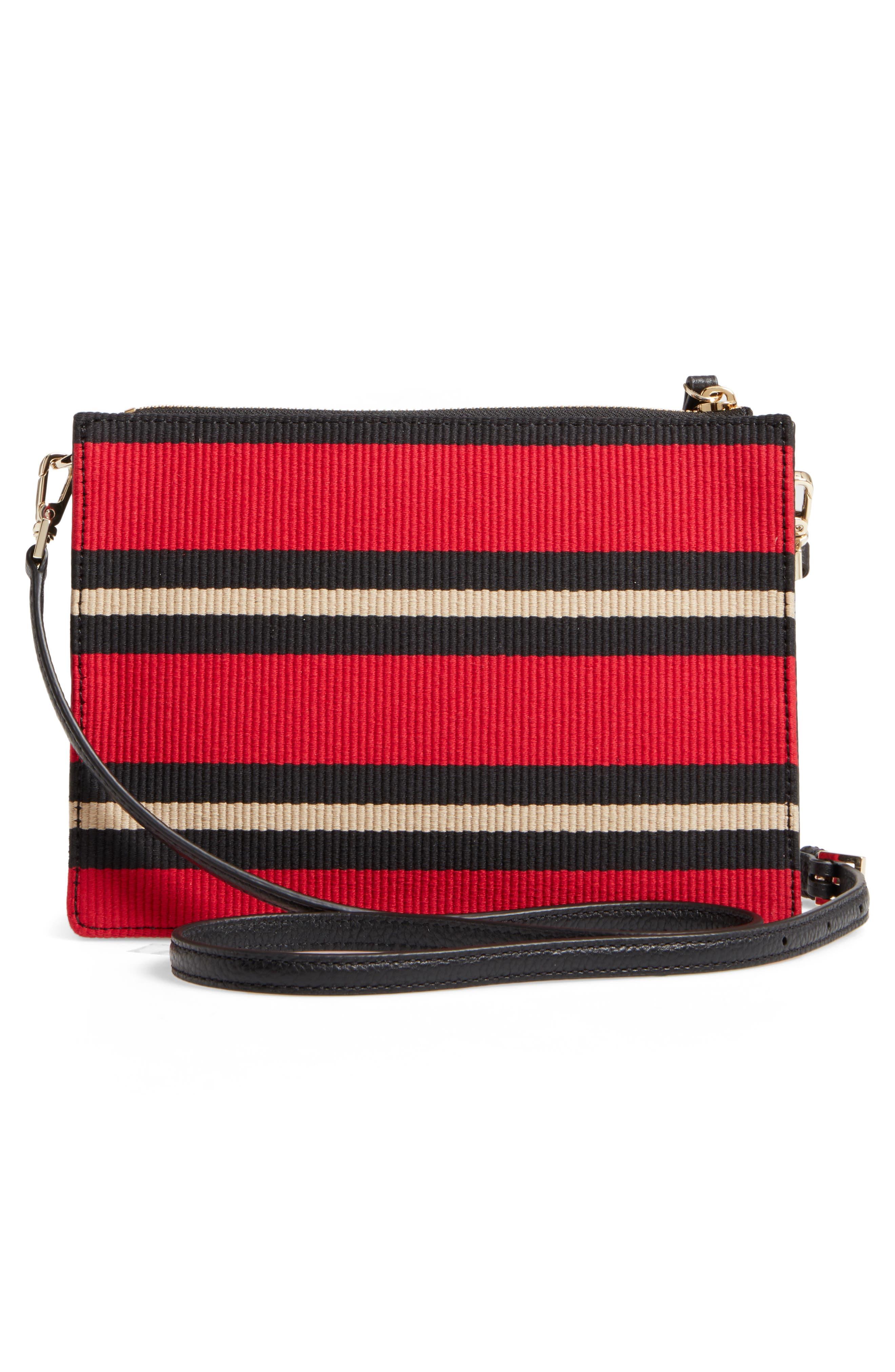 steward street clarise grosgrain stripe shoulder bag,                             Alternate thumbnail 3, color,                             600