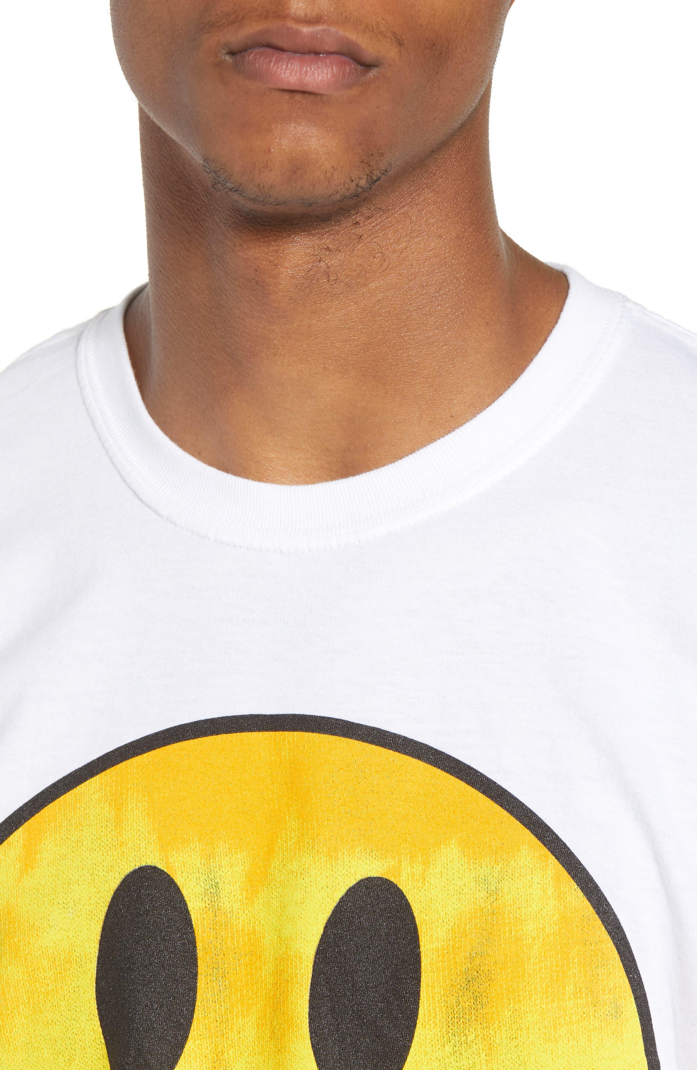 Tie Dye Smiley Face T-Shirt,                             Alternate thumbnail 4, color,                             100