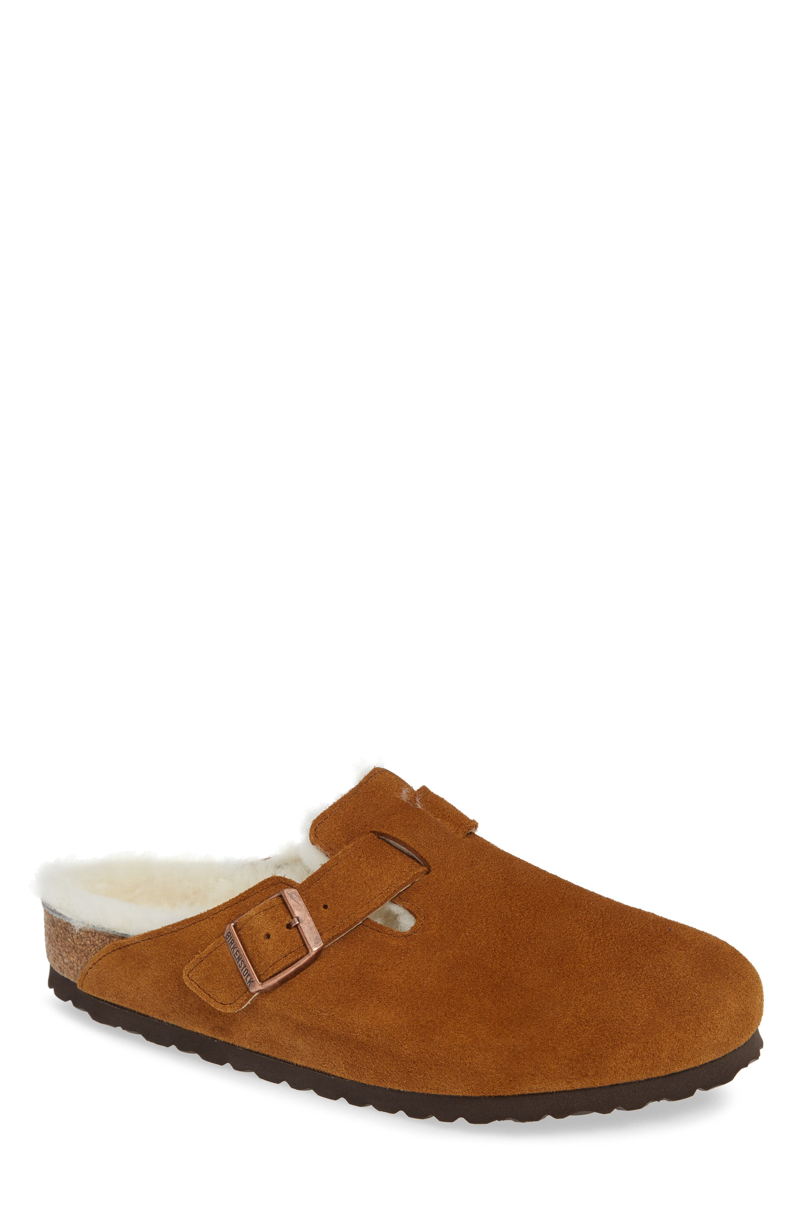 Boston Slip-On with Genuine Shearling Lining,                             Main thumbnail 1, color,                             BEIGE