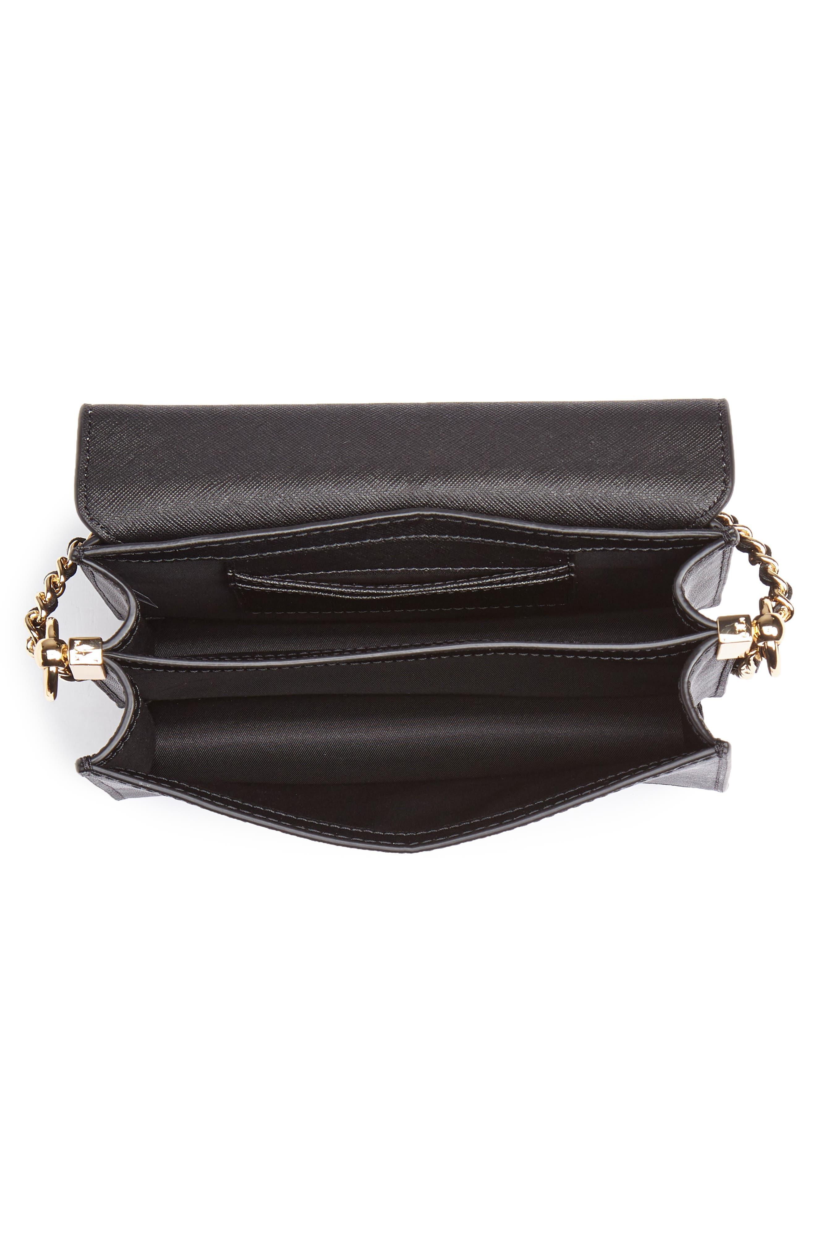 Mini Robinson Convertible Leather Shoulder Bag,                             Alternate thumbnail 4, color,                             BLACK