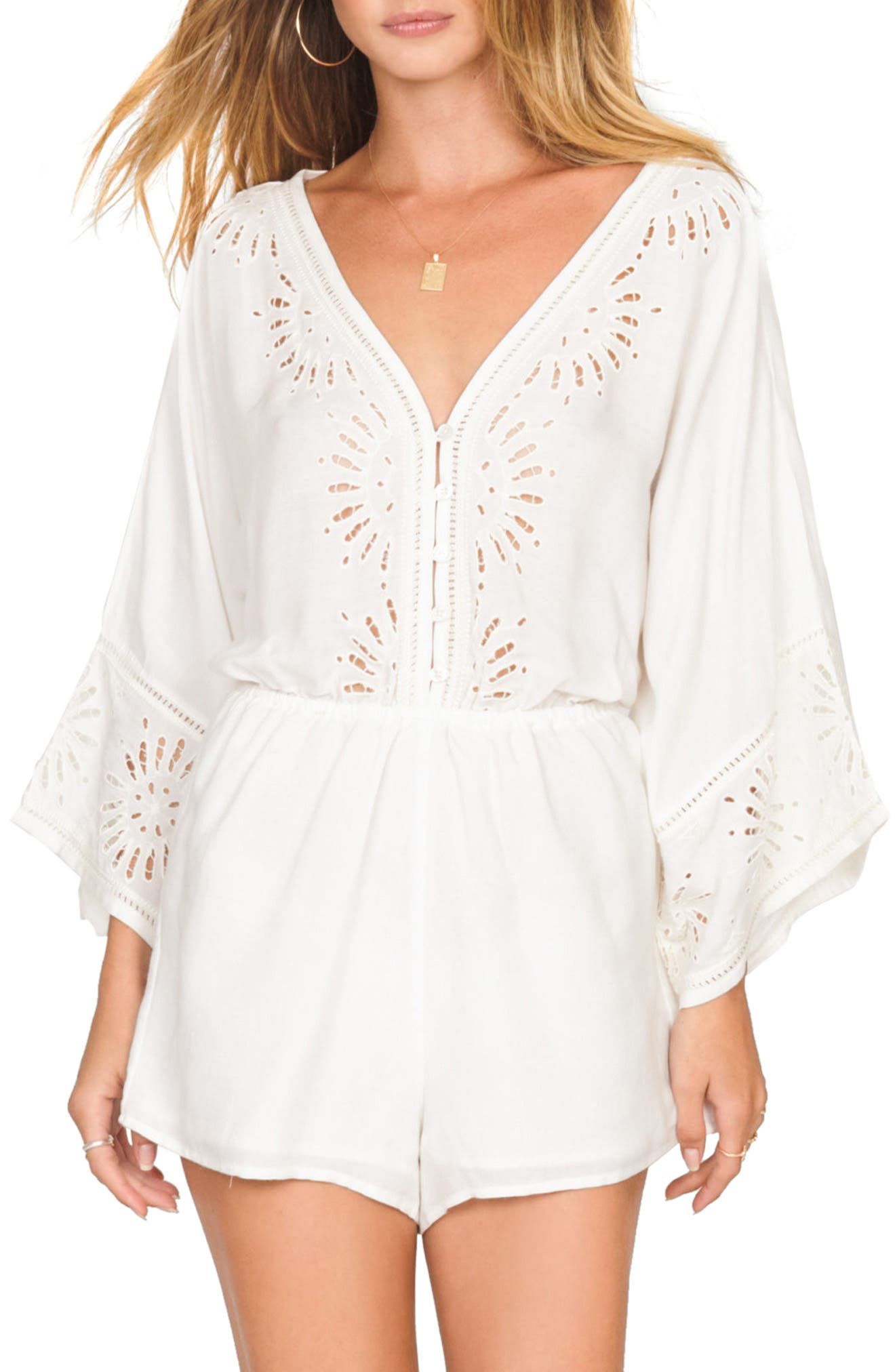 Babe Alert Romper,                         Main,                         color, CASABLANCA