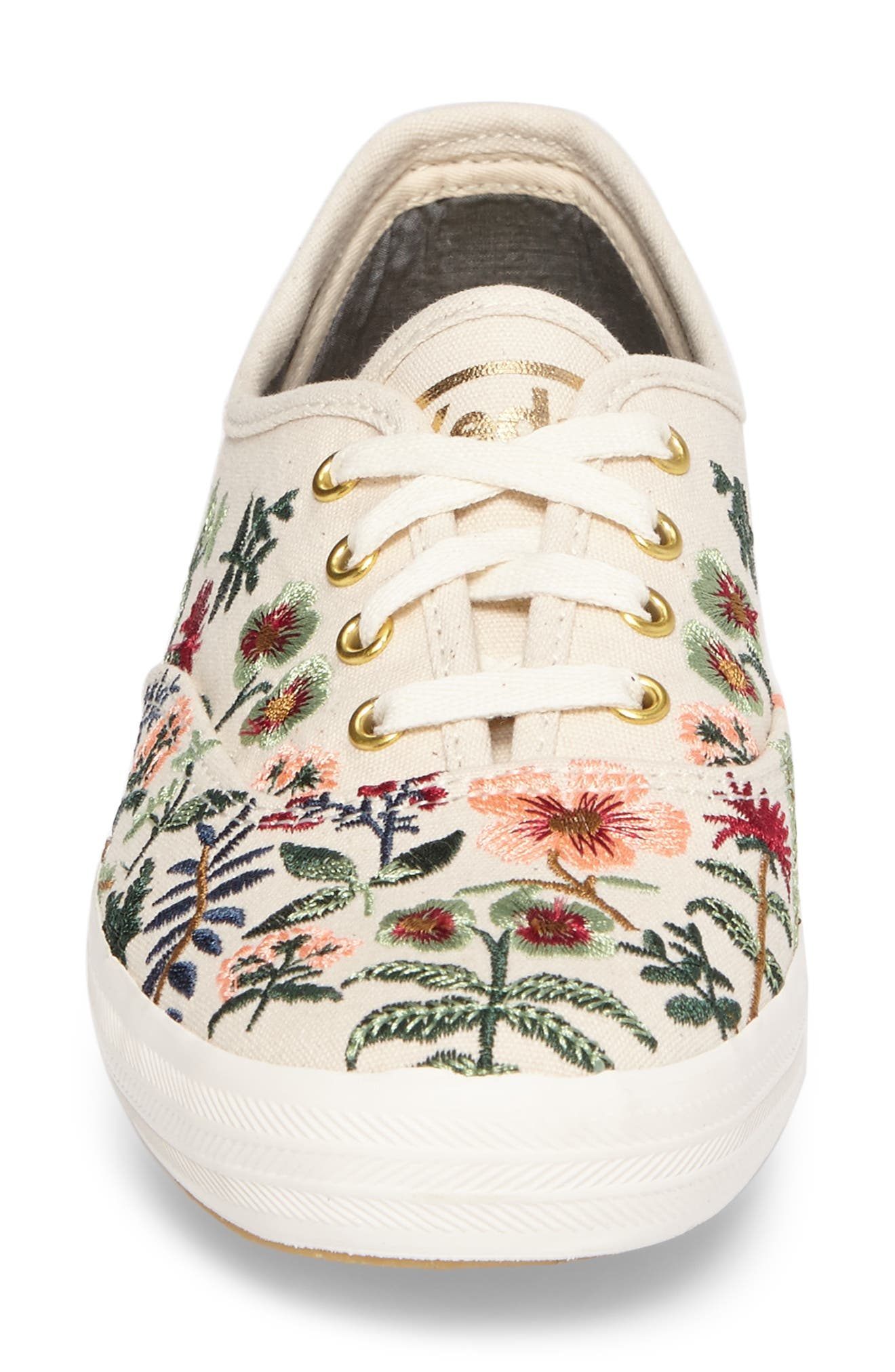 x Rifle Paper Co. Herb Garden Embroidered Sneaker,                             Alternate thumbnail 4, color,                             101