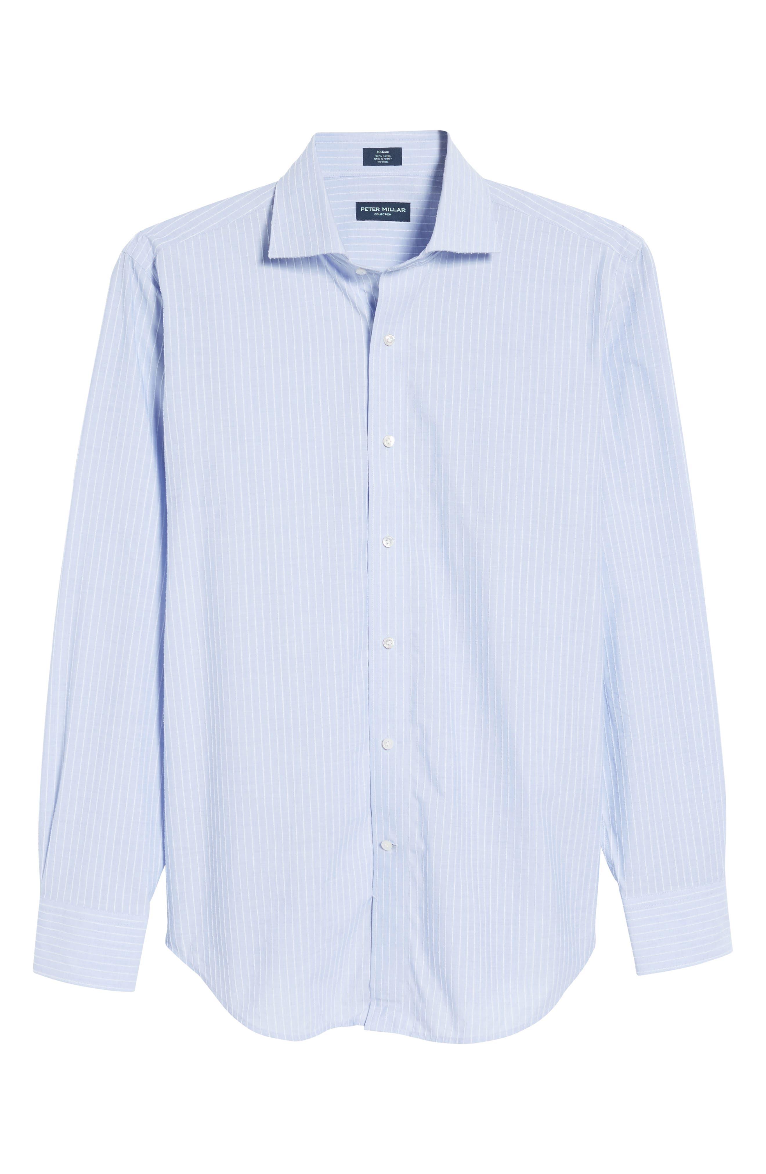 Cejar Stripe Sport Shirt,                             Alternate thumbnail 6, color,                             433