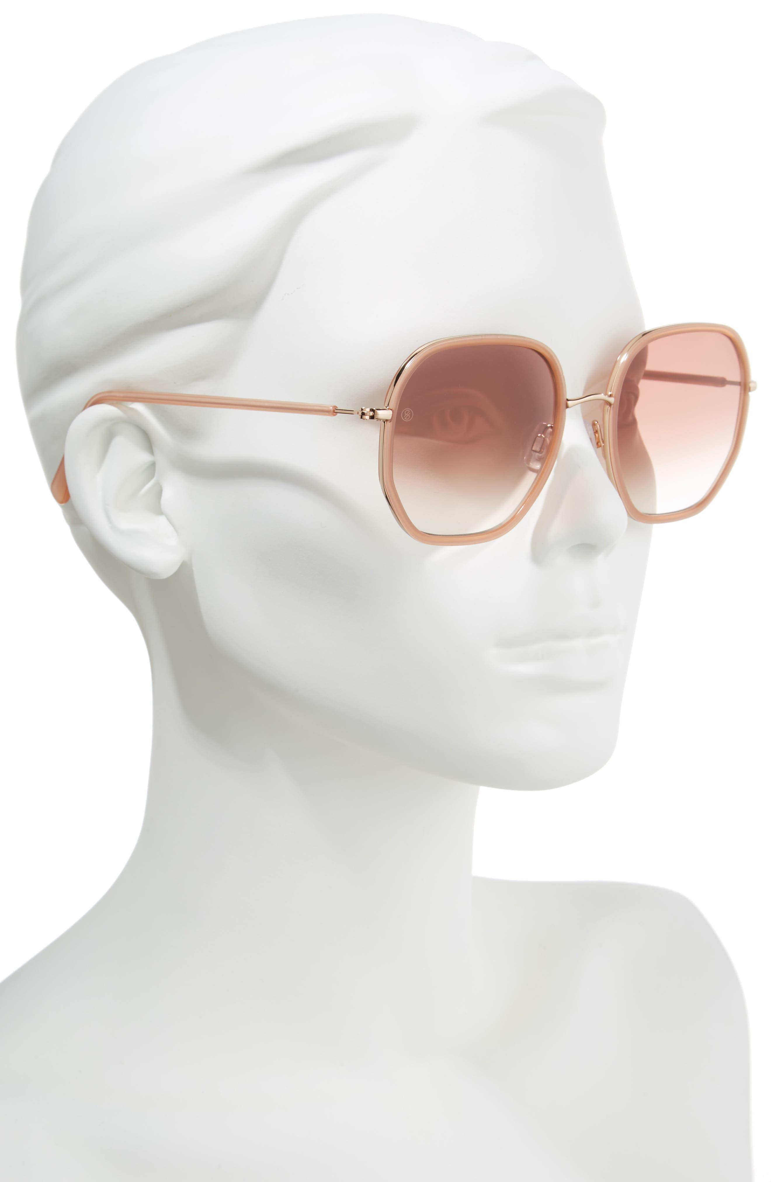 D'BLANC Rare Fortune 57mm Sunglasses,                             Alternate thumbnail 2, color,                             650