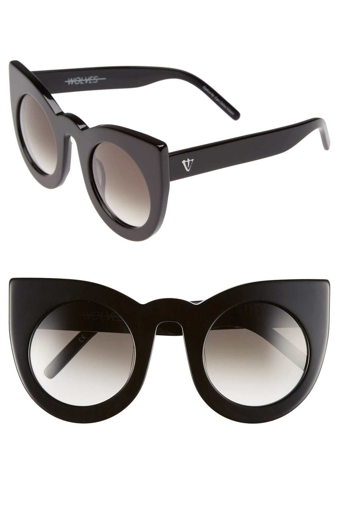 VALLEY 'Wolves' 52mm Sunglasses, Main, color, 001