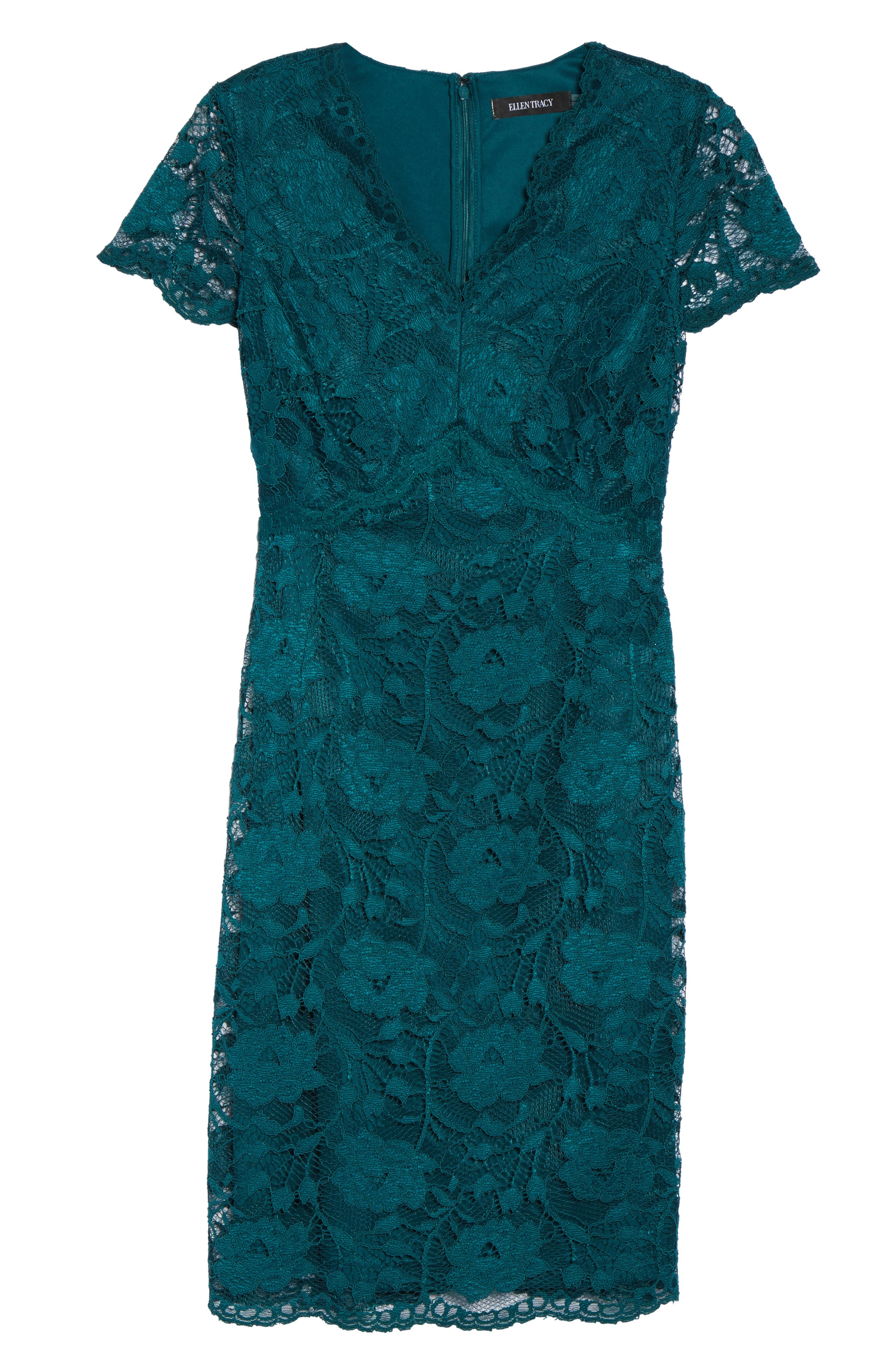 Lace Sheath Dress,                             Alternate thumbnail 6, color,                             300
