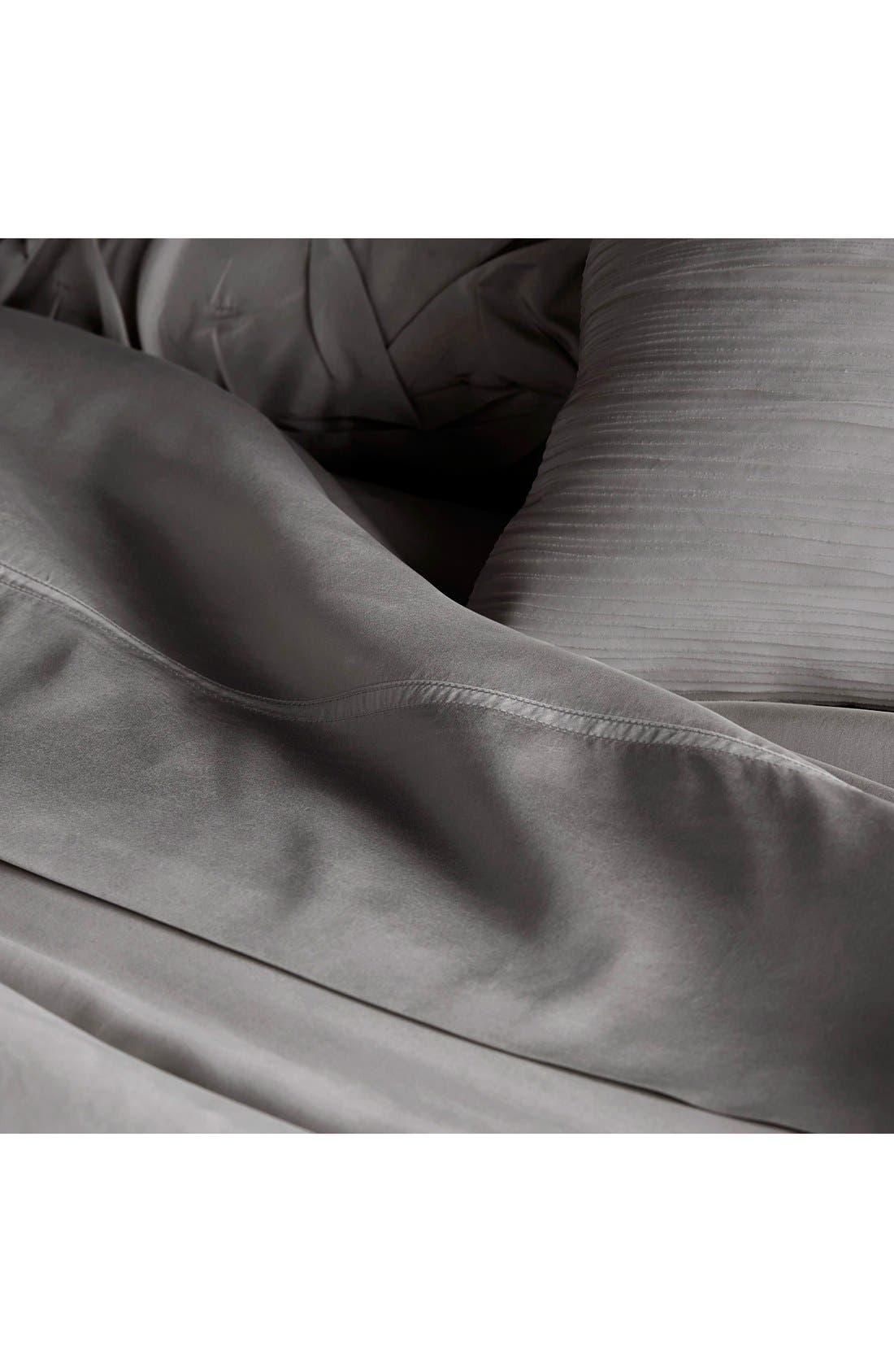 Donna Karan Collection 'Silk Essentials' Habutai Silk Fitted Sheet,                             Alternate thumbnail 4, color,
