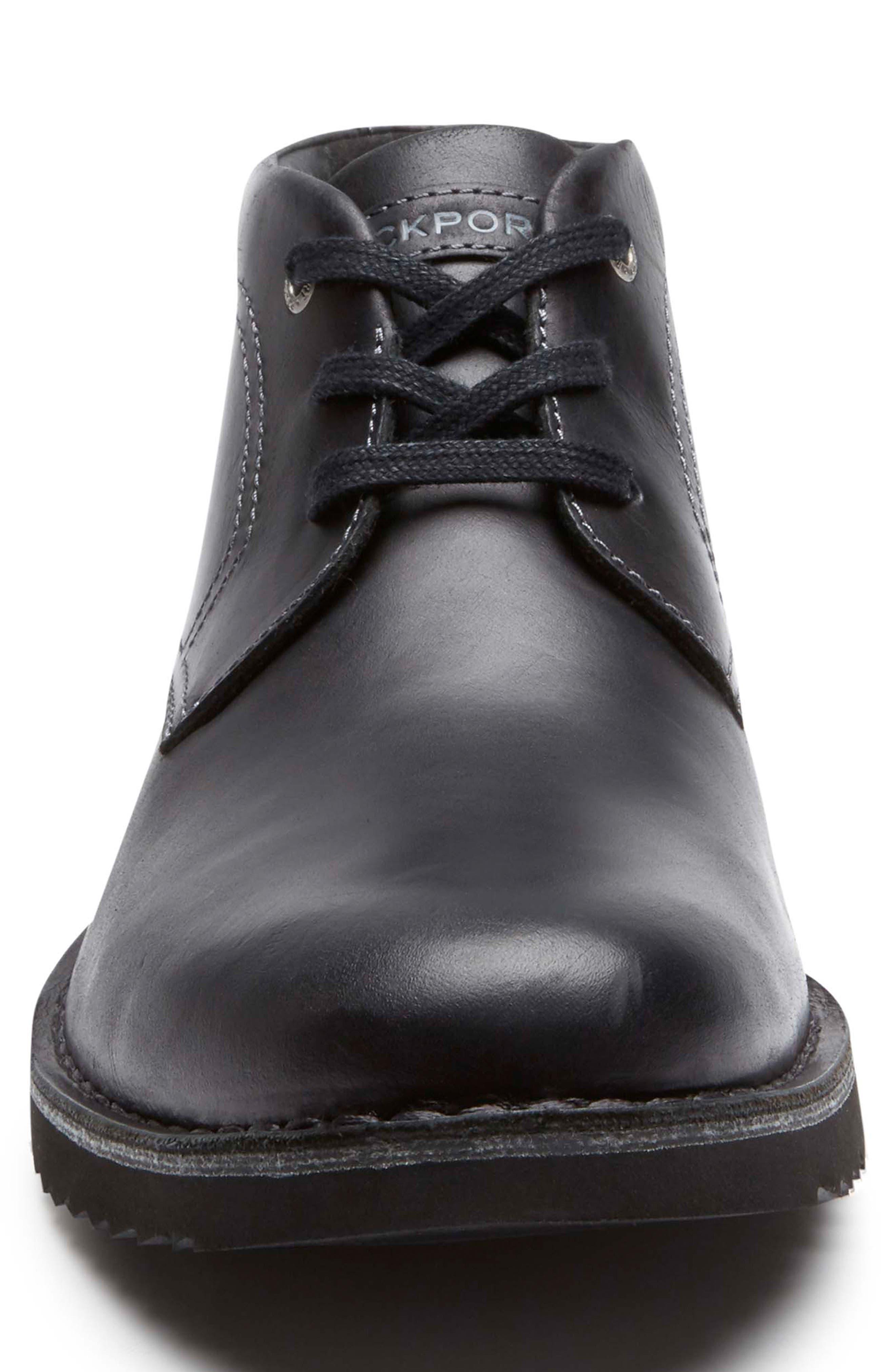 Cabot Chukka Boot,                             Alternate thumbnail 4, color,                             BLACK LEATHER