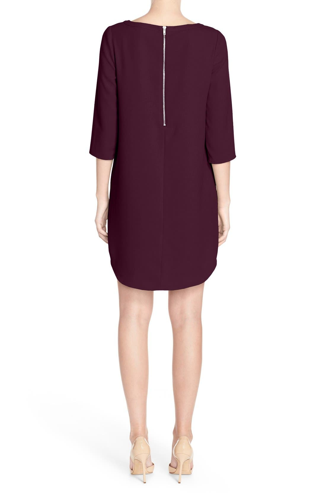 'Jazlyn' Crepe Shift Dress,                             Alternate thumbnail 15, color,