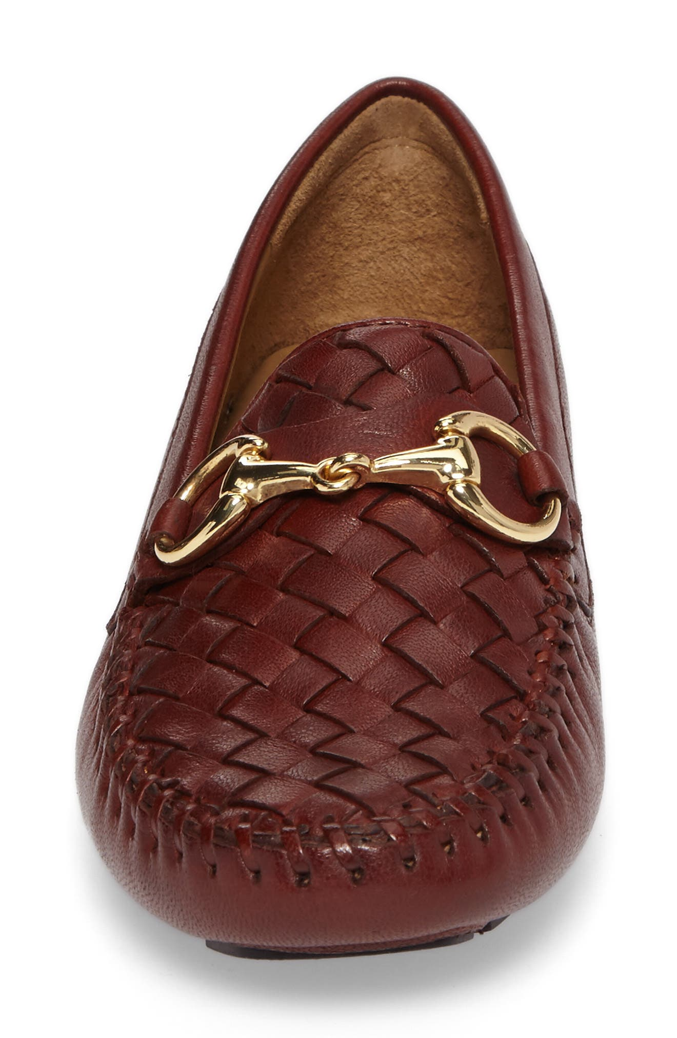 'Perlata' Loafer,                             Alternate thumbnail 4, color,                             VINTAGE LUGGAGE LEATHER