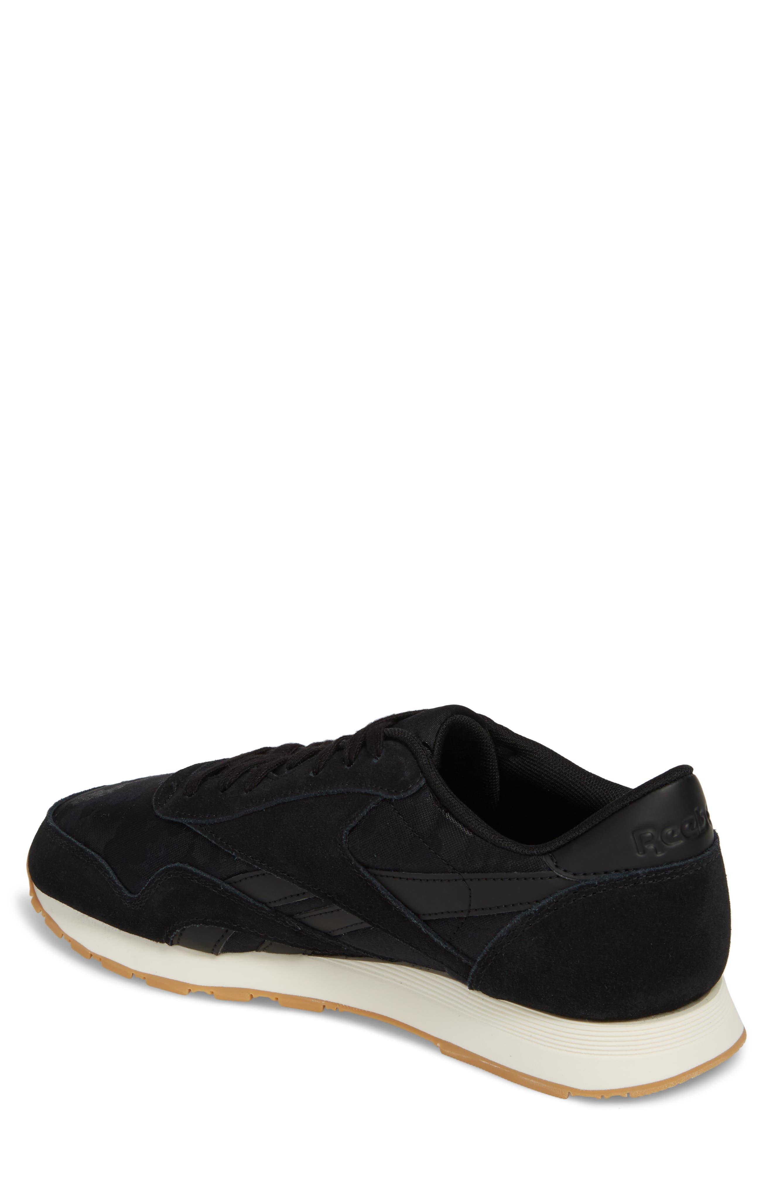 Classic Leather Nylon SG Sneaker,                             Alternate thumbnail 2, color,                             001