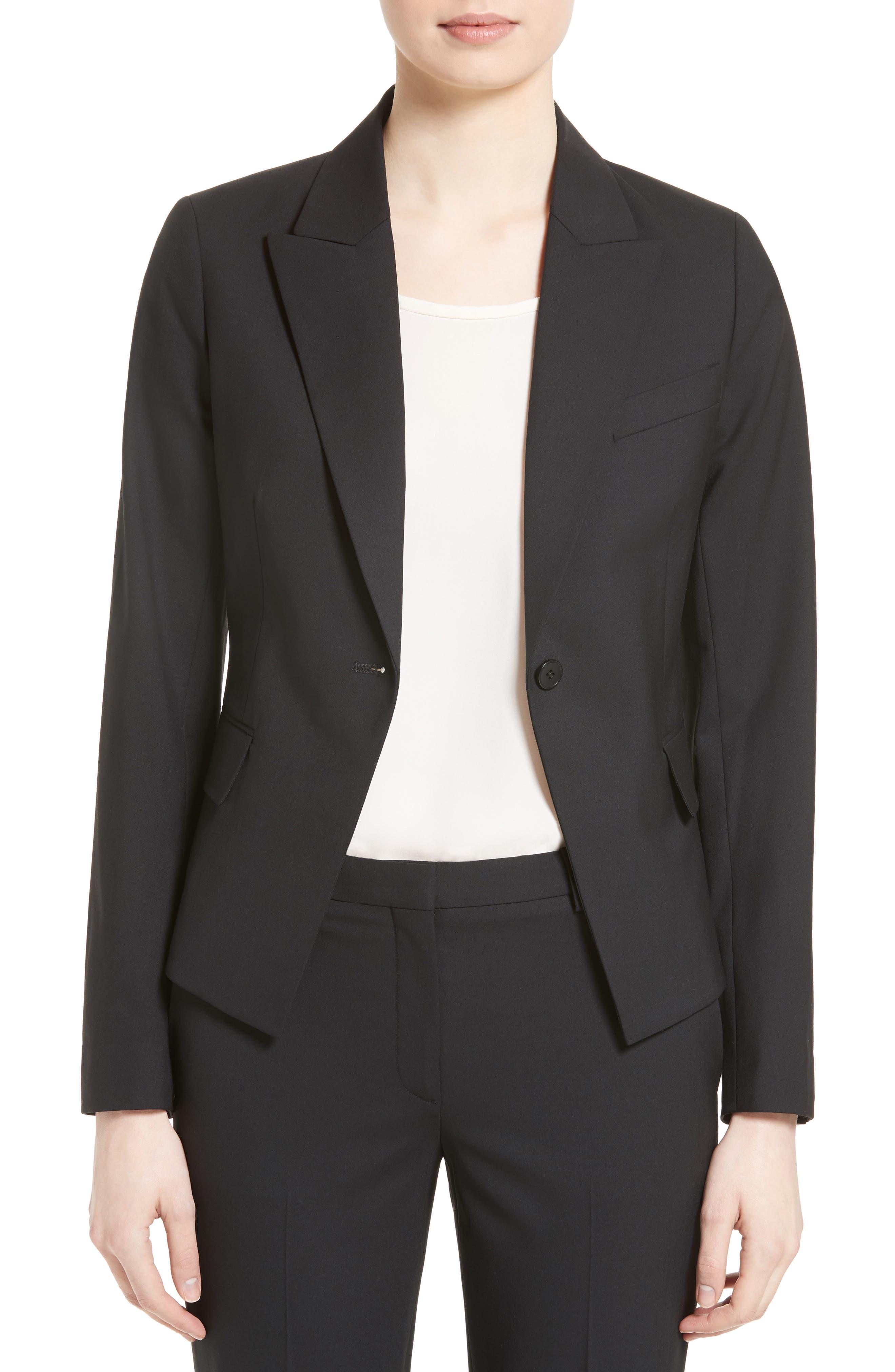 Brince B Good Wool Suit Jacket,                             Main thumbnail 1, color,                             BLACK