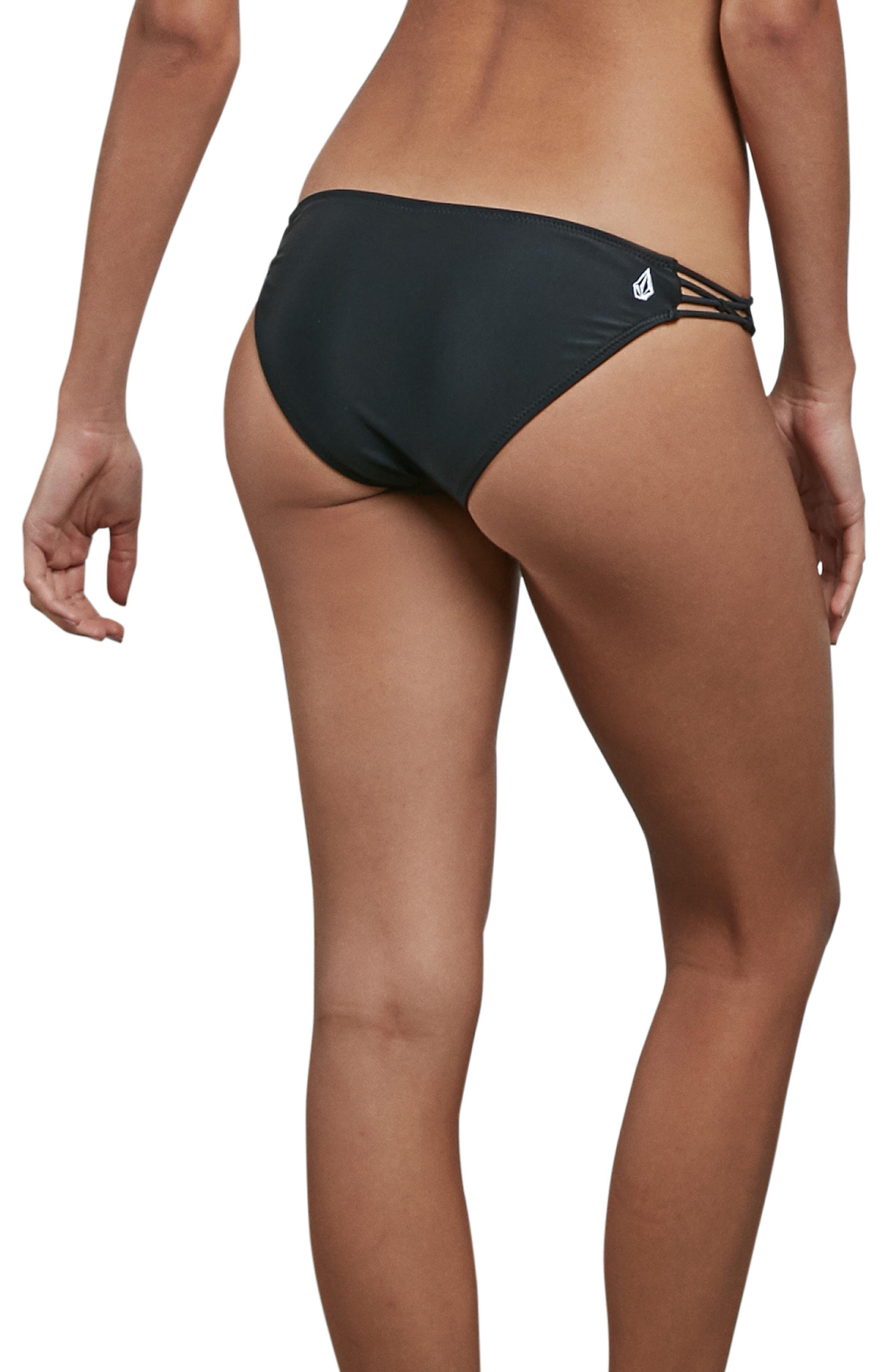 Simply Solid Macrame Bikini Bottoms,                             Alternate thumbnail 3, color,