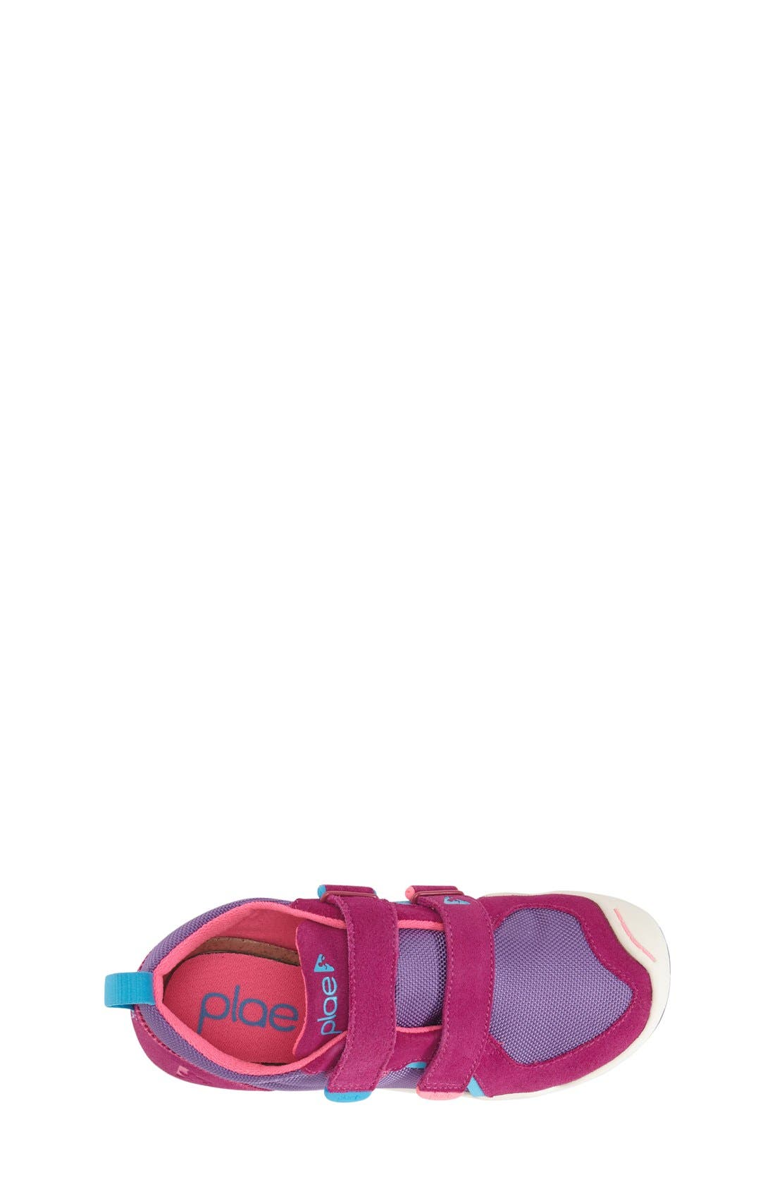 'Ty' Customizable Sneaker,                             Alternate thumbnail 3, color,                             FUCHSIA/ PURPLE