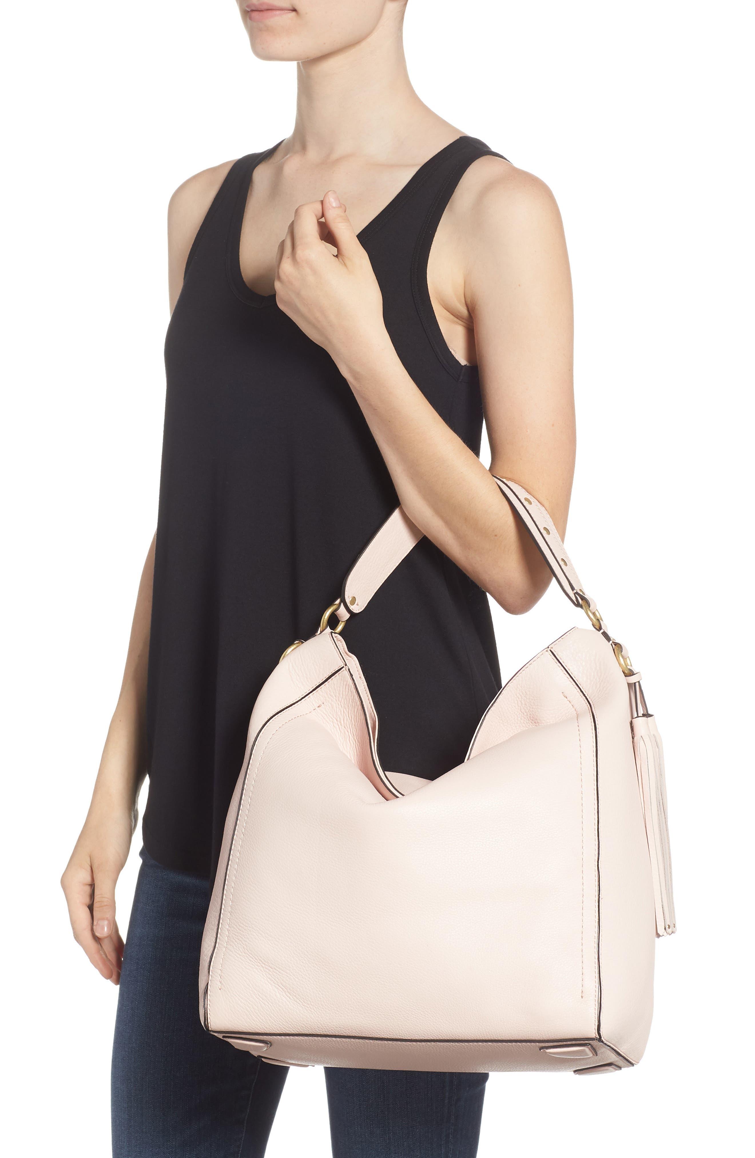 Cassidy RFID Pebbled Leather Bucket Bag,                             Alternate thumbnail 8, color,