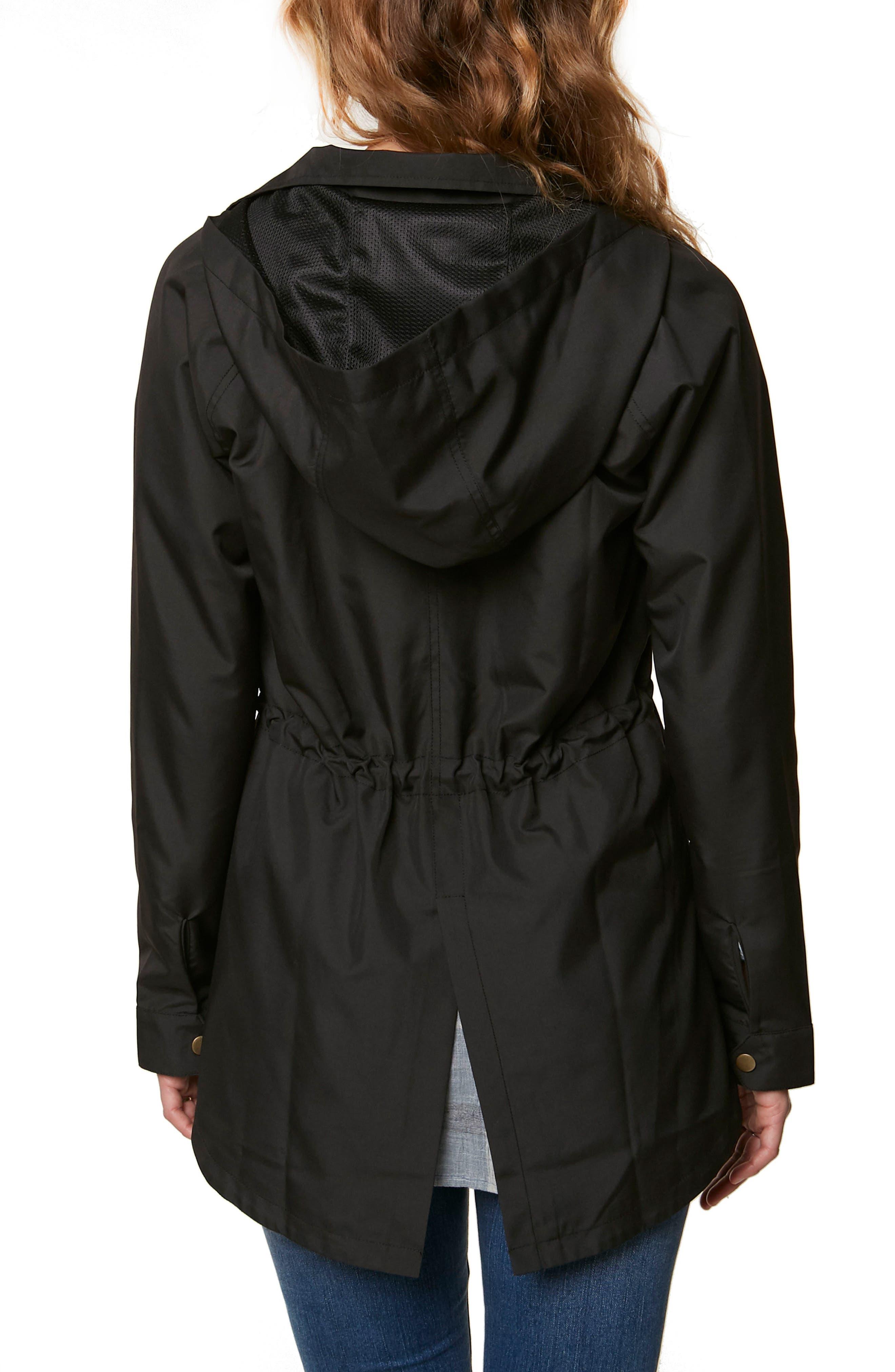 Gale Waterproof Hooded Jacket,                             Alternate thumbnail 2, color,                             001