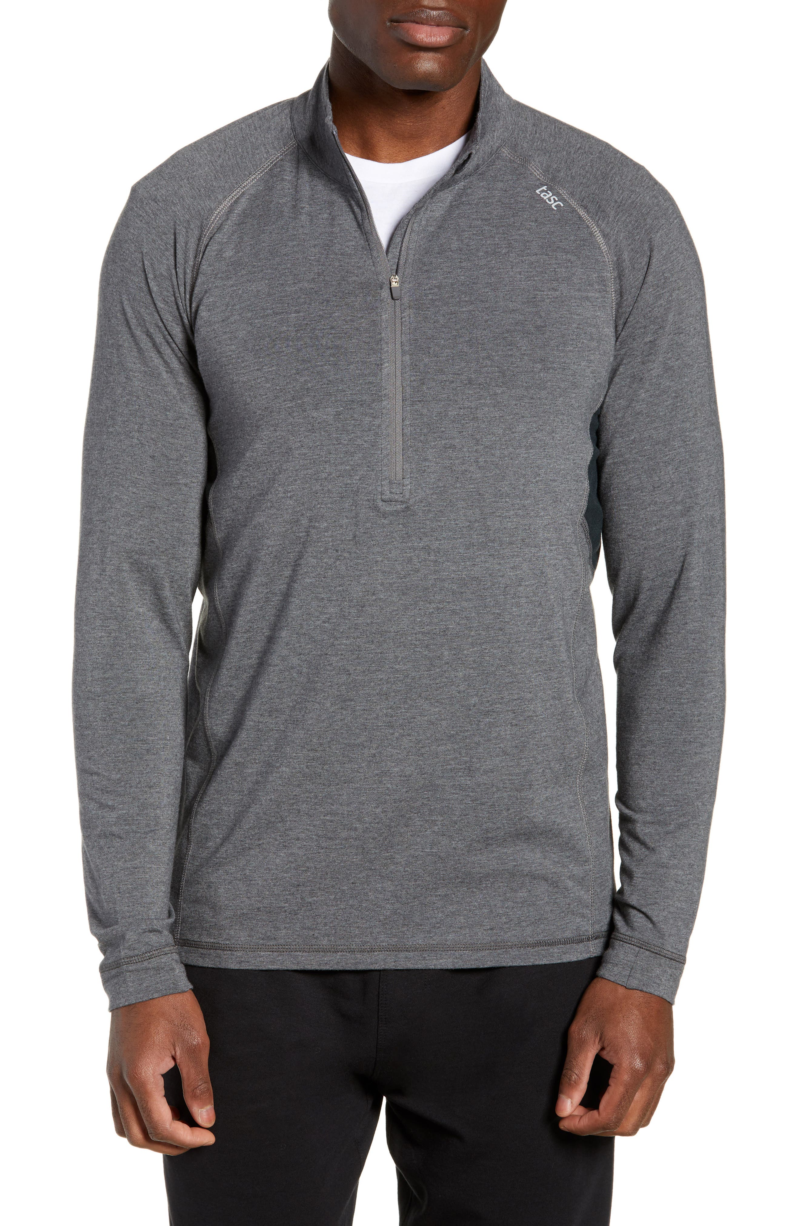 Charge II Half Zip Pullover,                             Main thumbnail 1, color,                             BLACK HEATHER