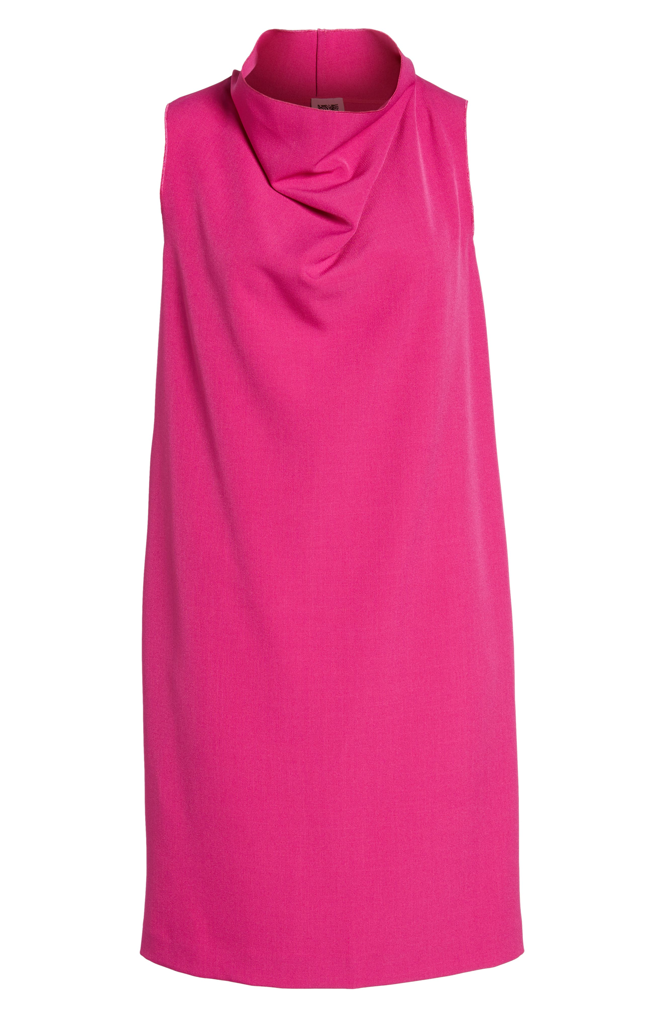 Cowl Neck Sheath Dress,                             Alternate thumbnail 12, color,