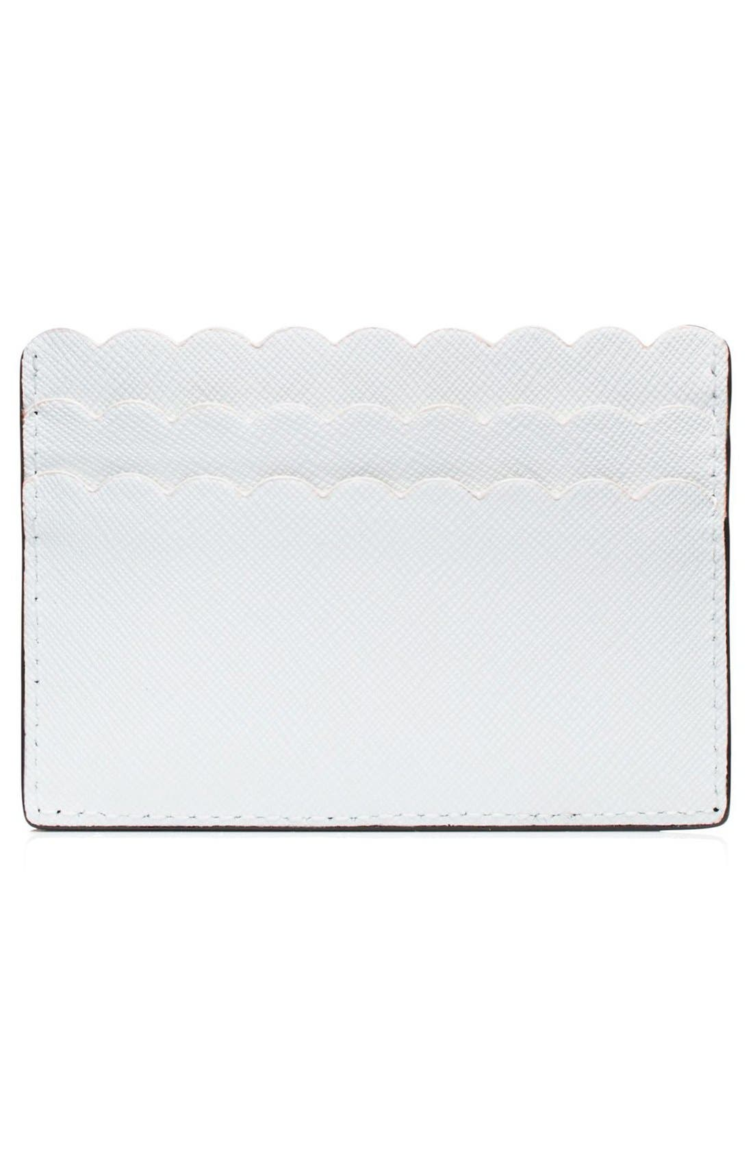'cape drive' saffiano leather card holder,                             Alternate thumbnail 2, color,                             001