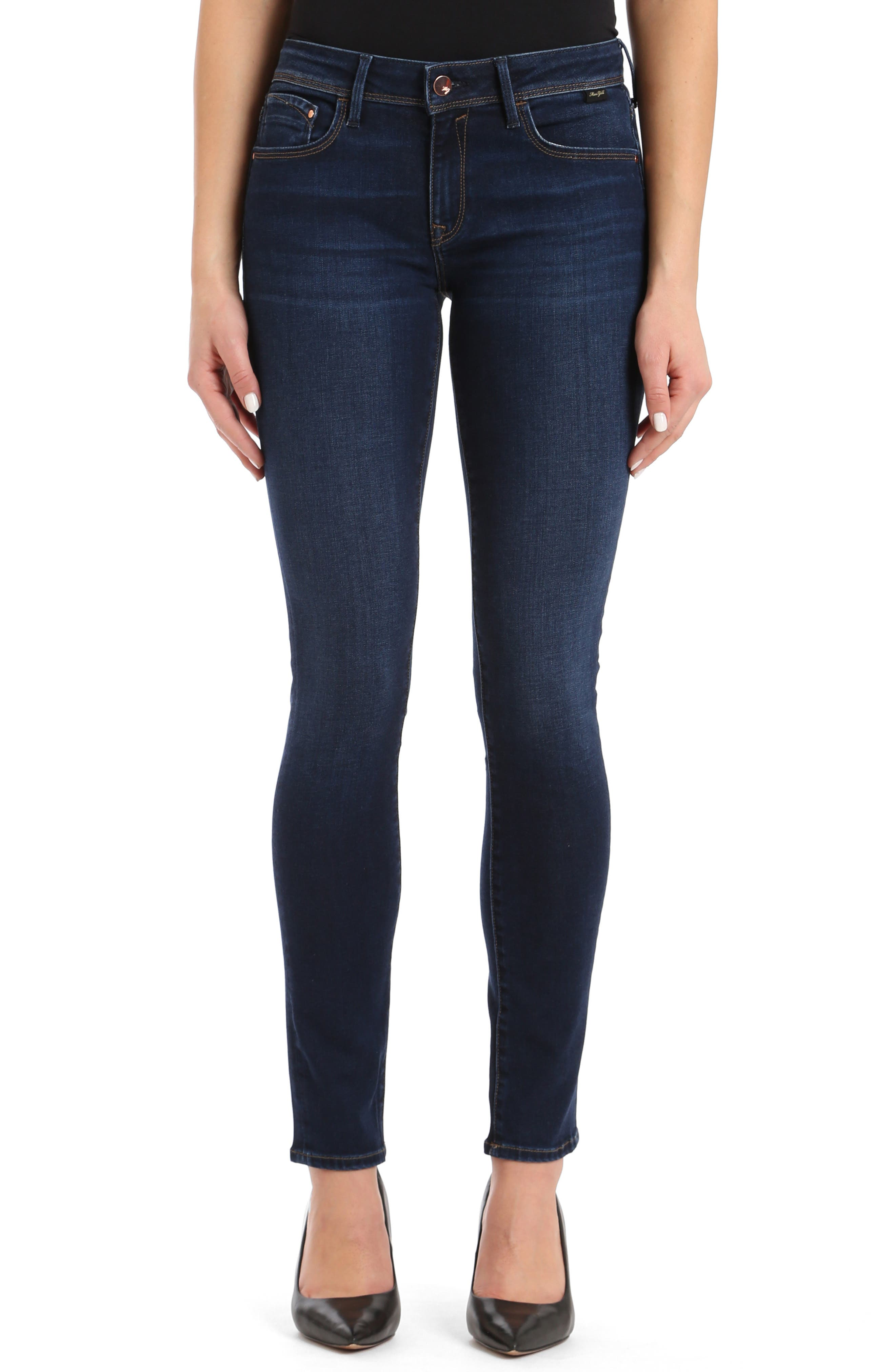 Alexa Skinny Jeans, Main, color, DEEP SOFT GOLD LUX MOVE