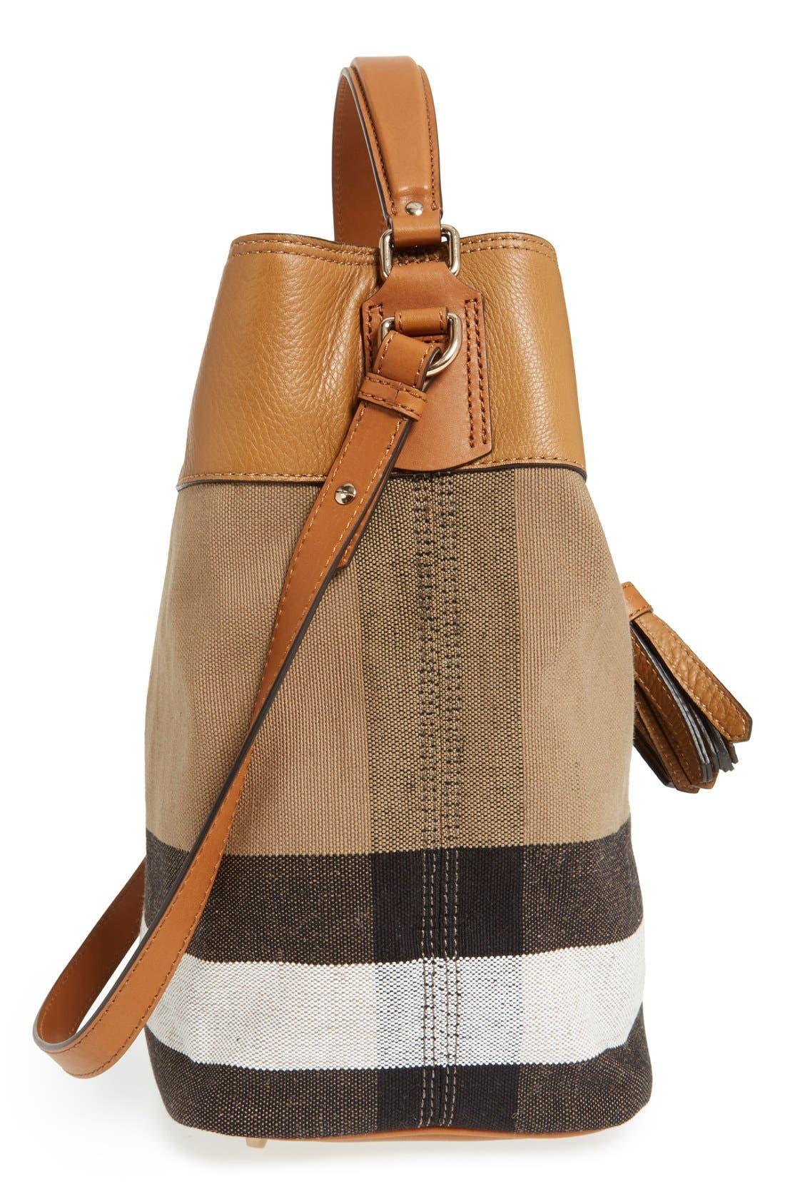BURBERRY,                             Medium Ashby Bucket Bag,                             Alternate thumbnail 4, color,                             200
