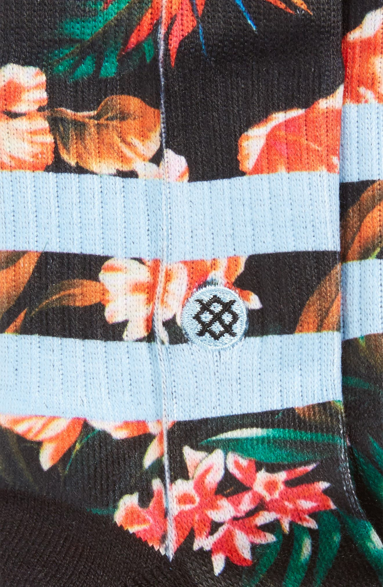 Floral Trades Socks,                             Alternate thumbnail 3, color,                             001