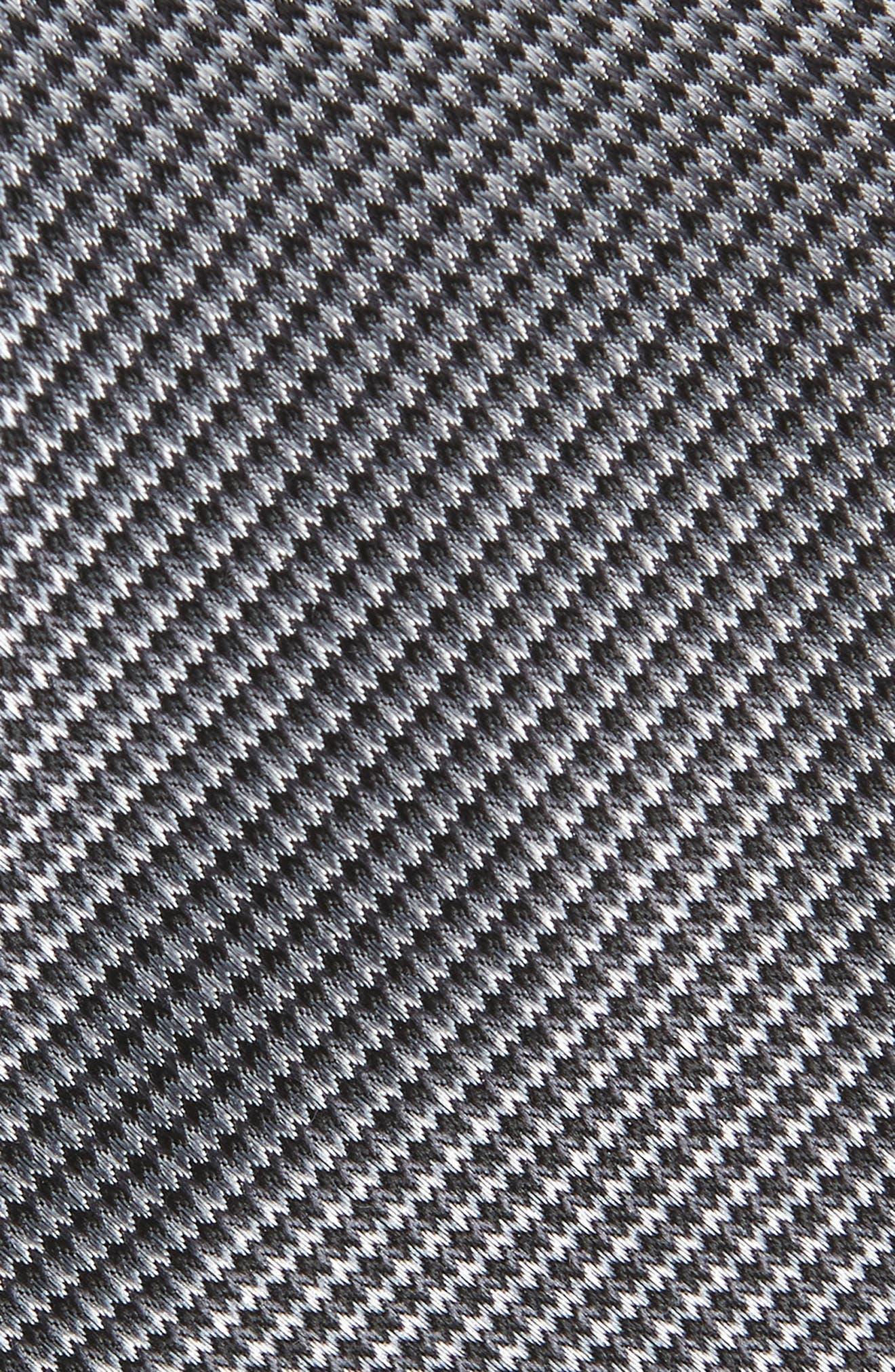 Jennie Solid Silk Tie,                             Alternate thumbnail 2, color,                             BLACK