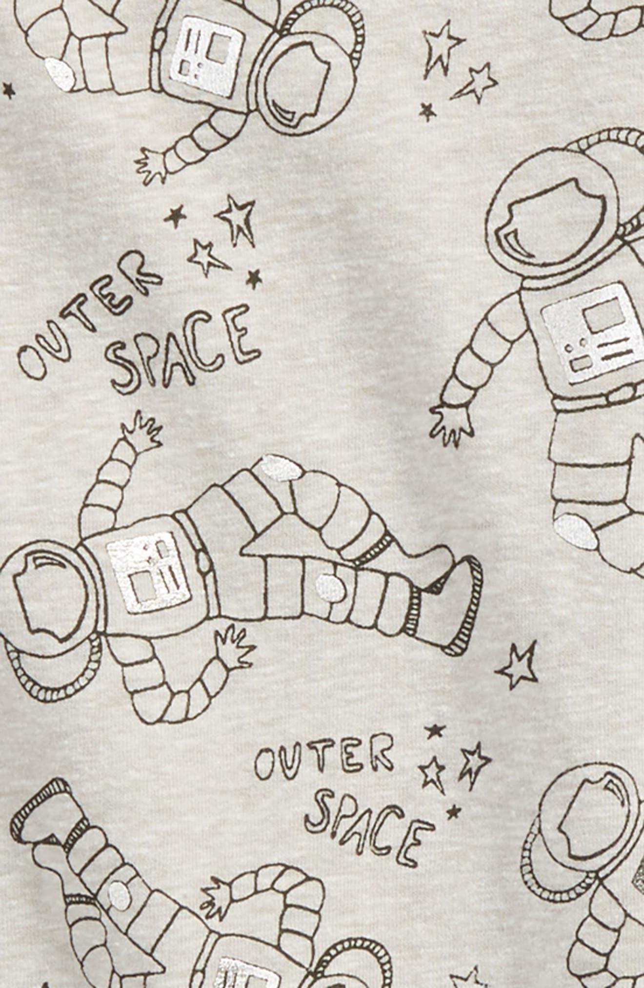 Print Foil T-Shirt,                             Alternate thumbnail 2, color,                             GREY ASH HEATHER ASTRONAUT