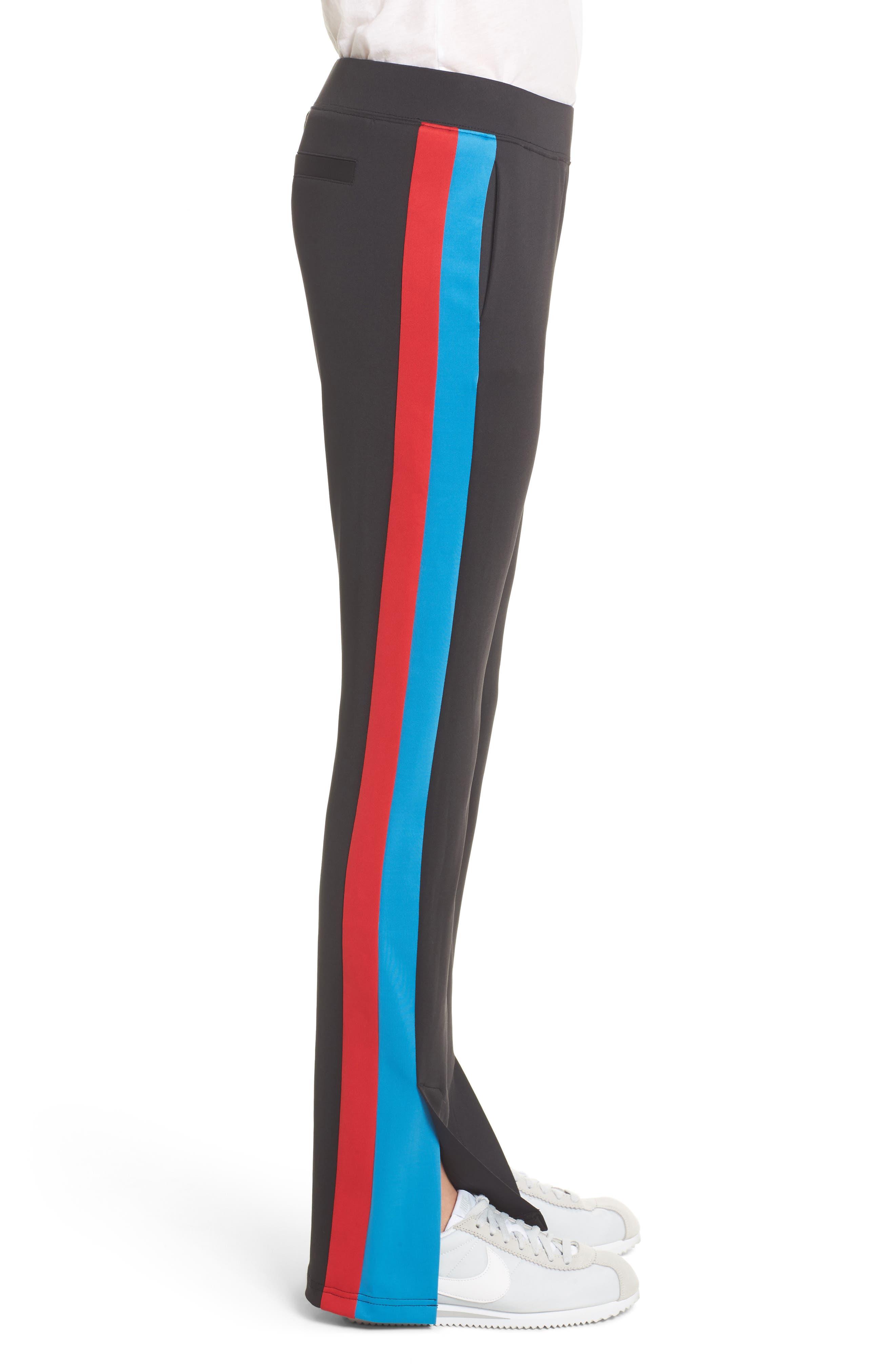 Stripe Track Pants,                             Alternate thumbnail 3, color,                             001