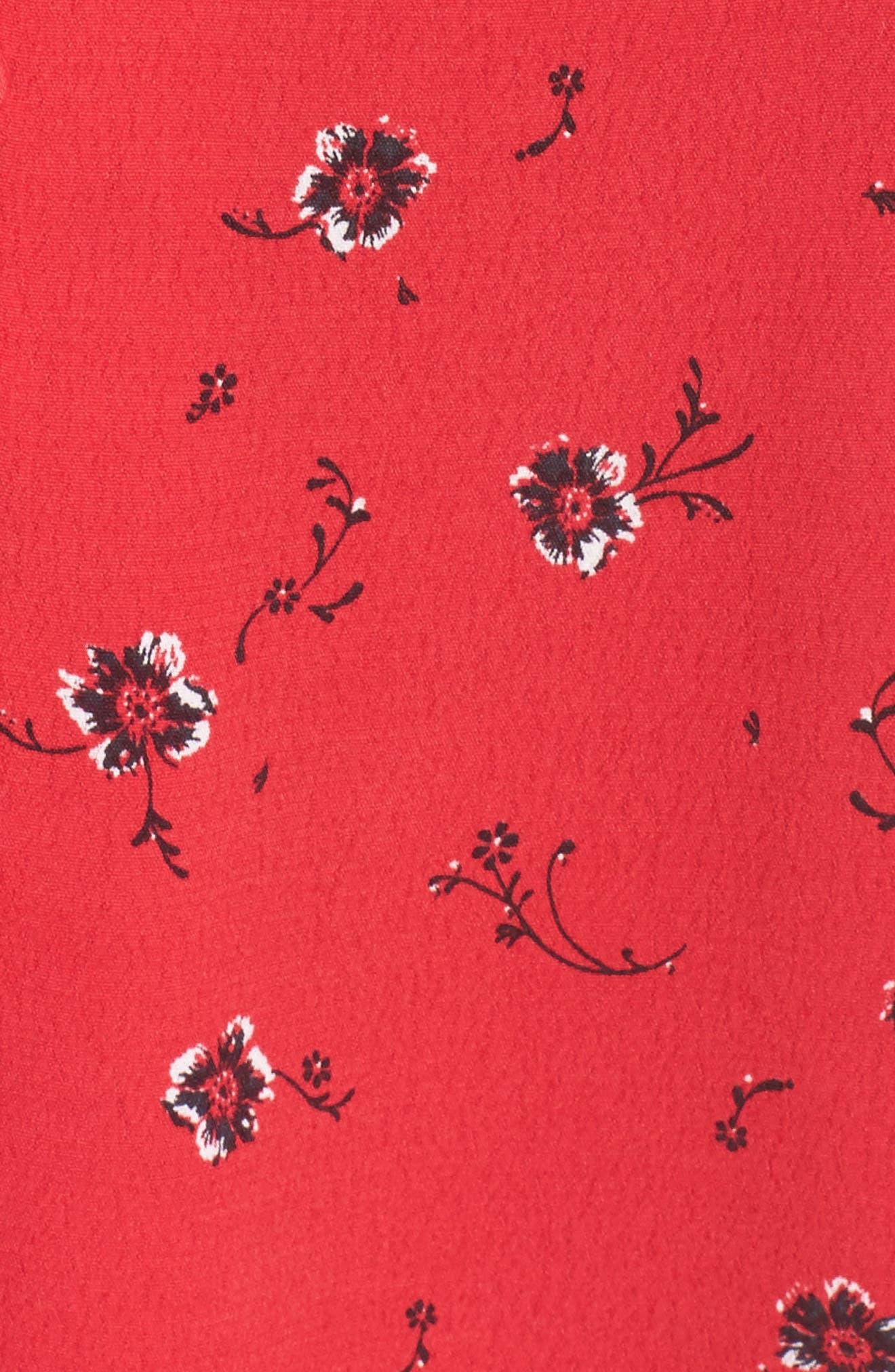 Luella Floral Print Dress,                             Alternate thumbnail 6, color,                             650
