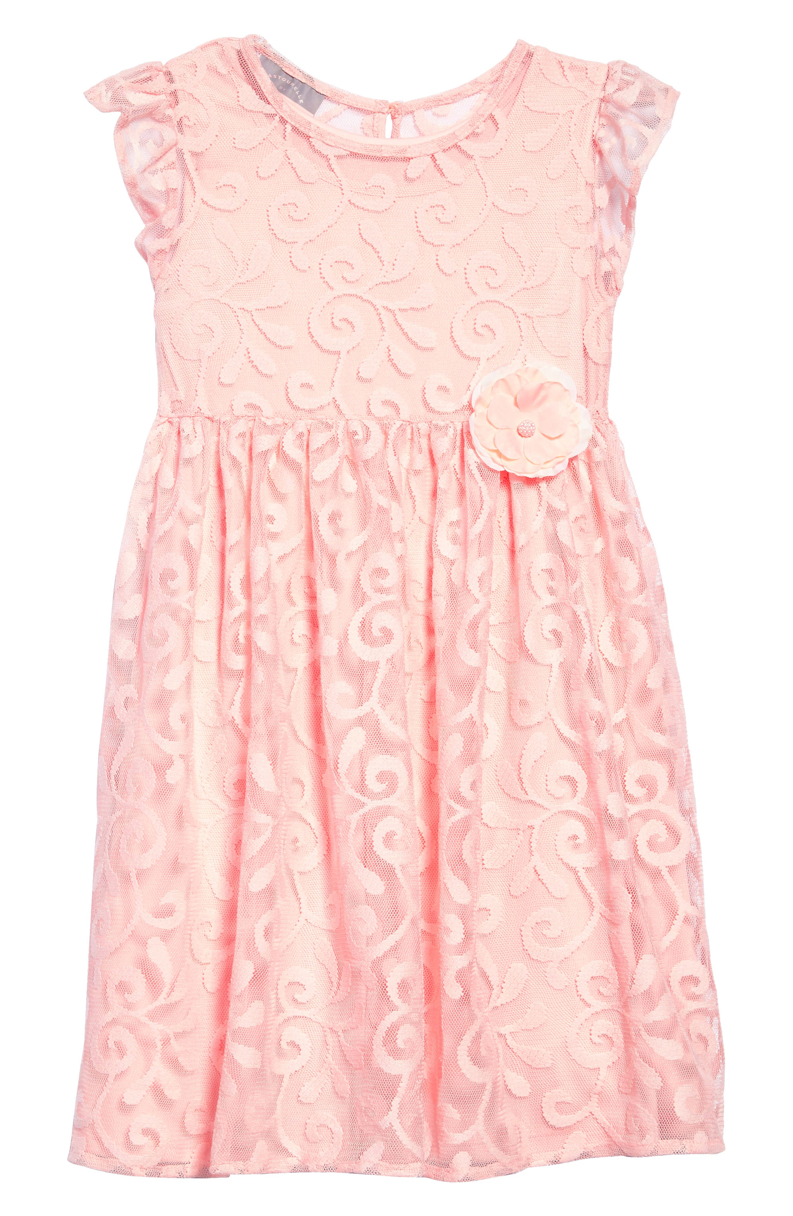 Embroidered Tulle Dress,                         Main,                         color, 811