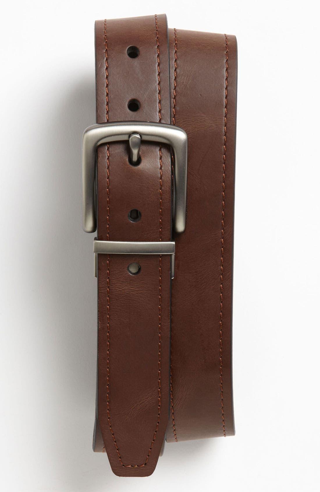 'Parker' Twist Reversible Leather Belt,                             Main thumbnail 1, color,                             200