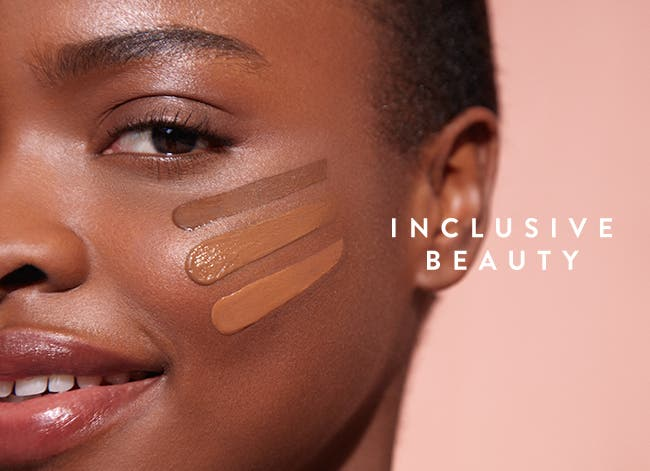 Inclusive Beauty: makeup, skin care and hair care essentials.