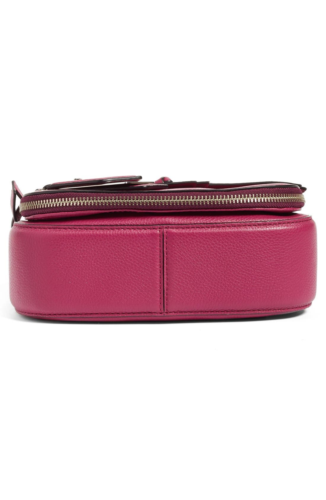 Small Recruit Nomad Pebbled Leather Crossbody Bag,                             Alternate thumbnail 96, color,