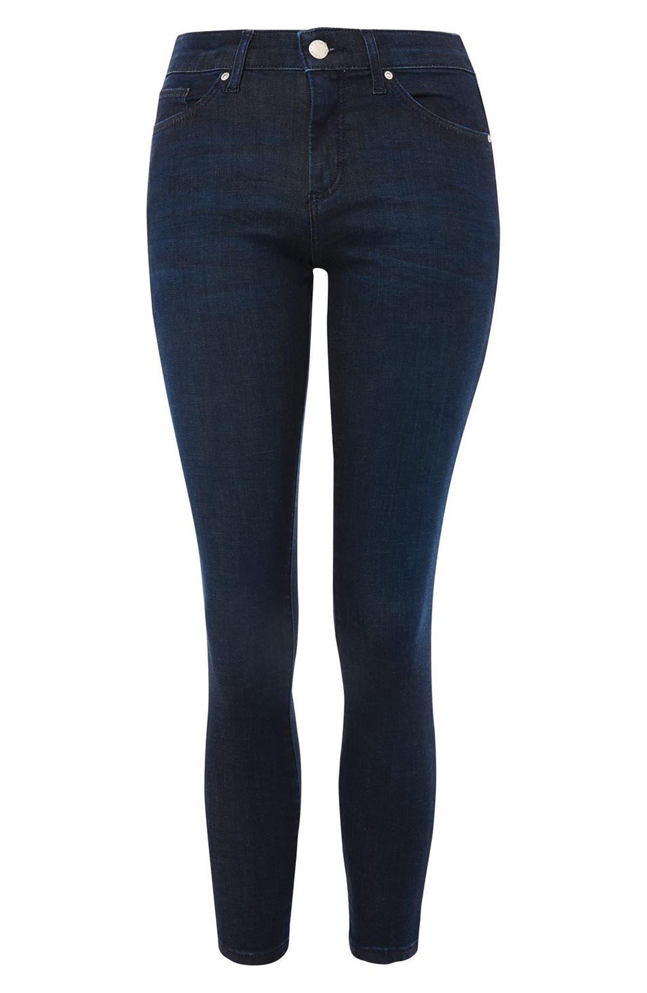 Leigh Skinny Ankle Jeans,                             Alternate thumbnail 3, color,                             401