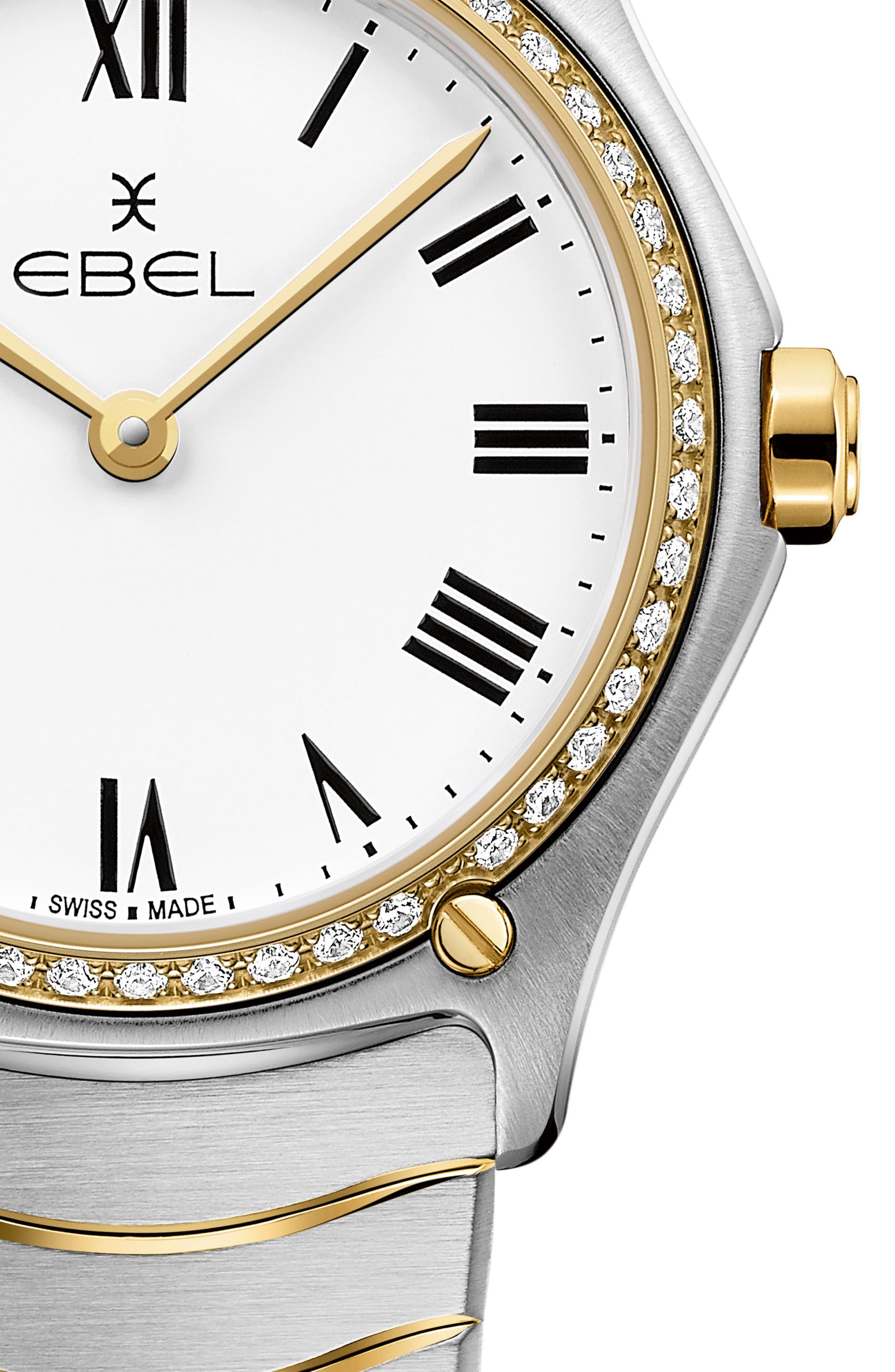 Sport Classic Diamond Bracelet Watch, 29mm,                             Alternate thumbnail 2, color,                             SILVER/ WHITE/ GOLD