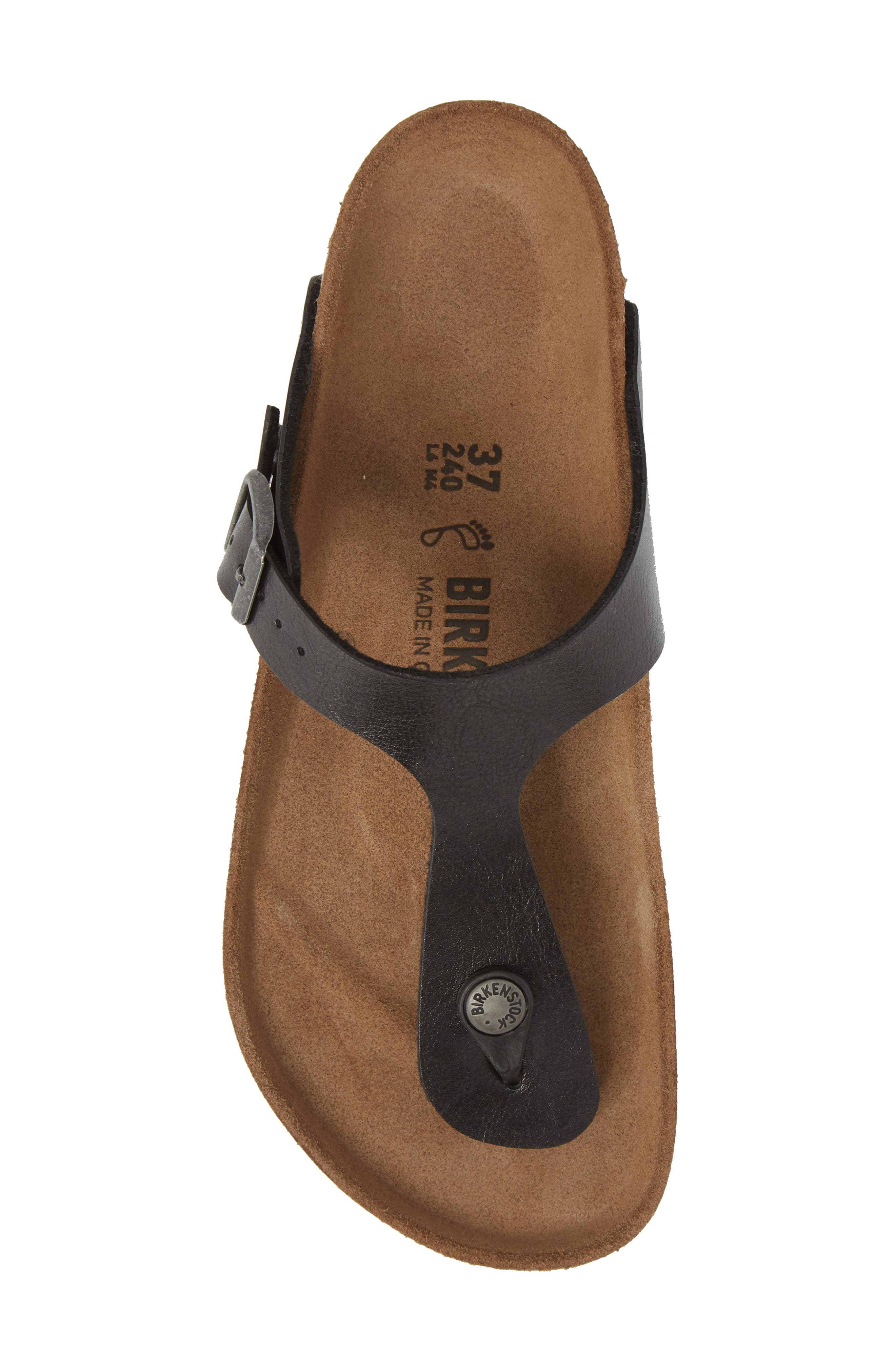 BIRKENSTOCK,                             Gizeh Birko-Flor<sup>™</sup> Thong,                             Alternate thumbnail 5, color,                             LICORICE