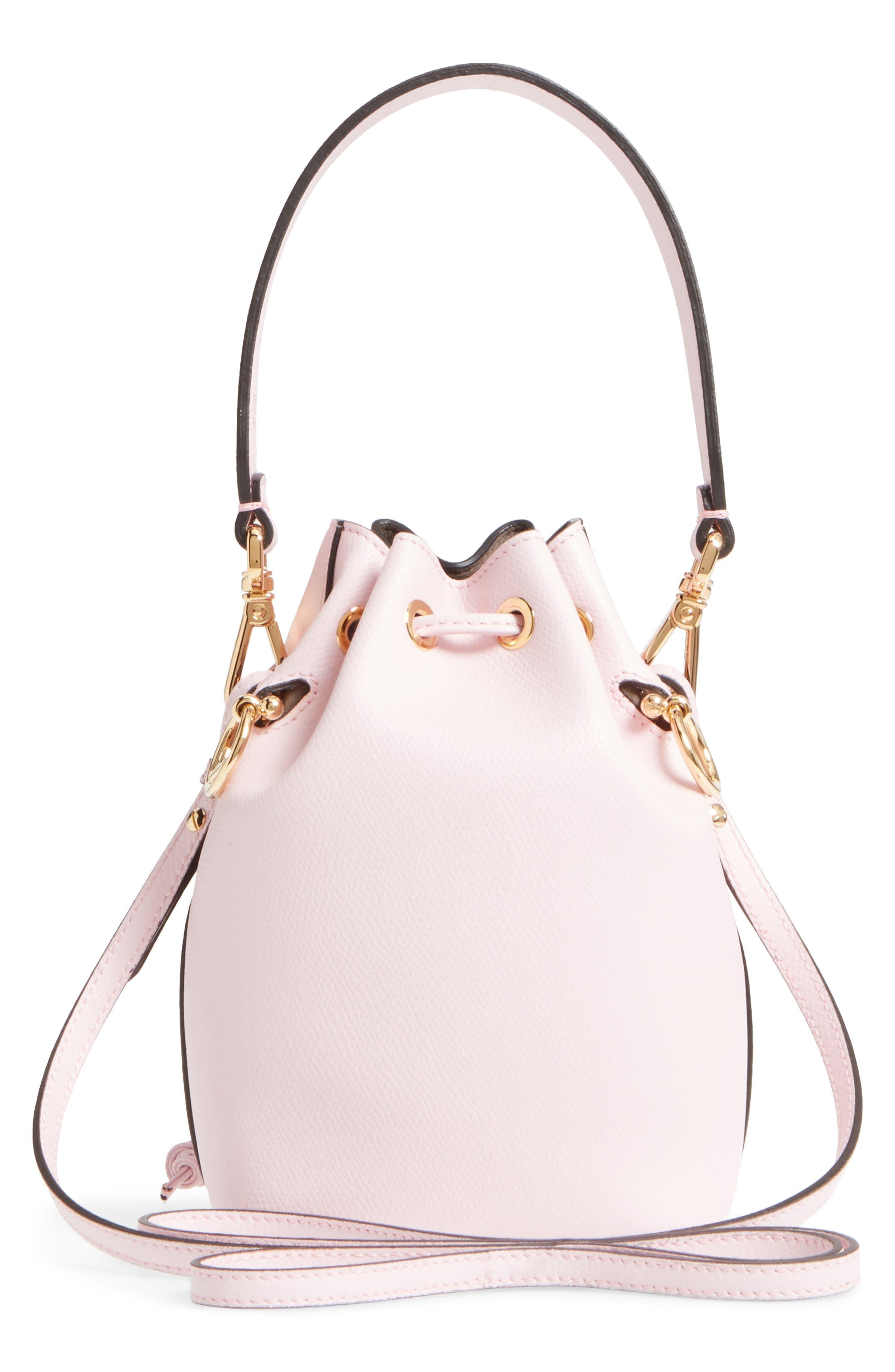 Mini Leather Bucket Bag,                             Alternate thumbnail 6, color,