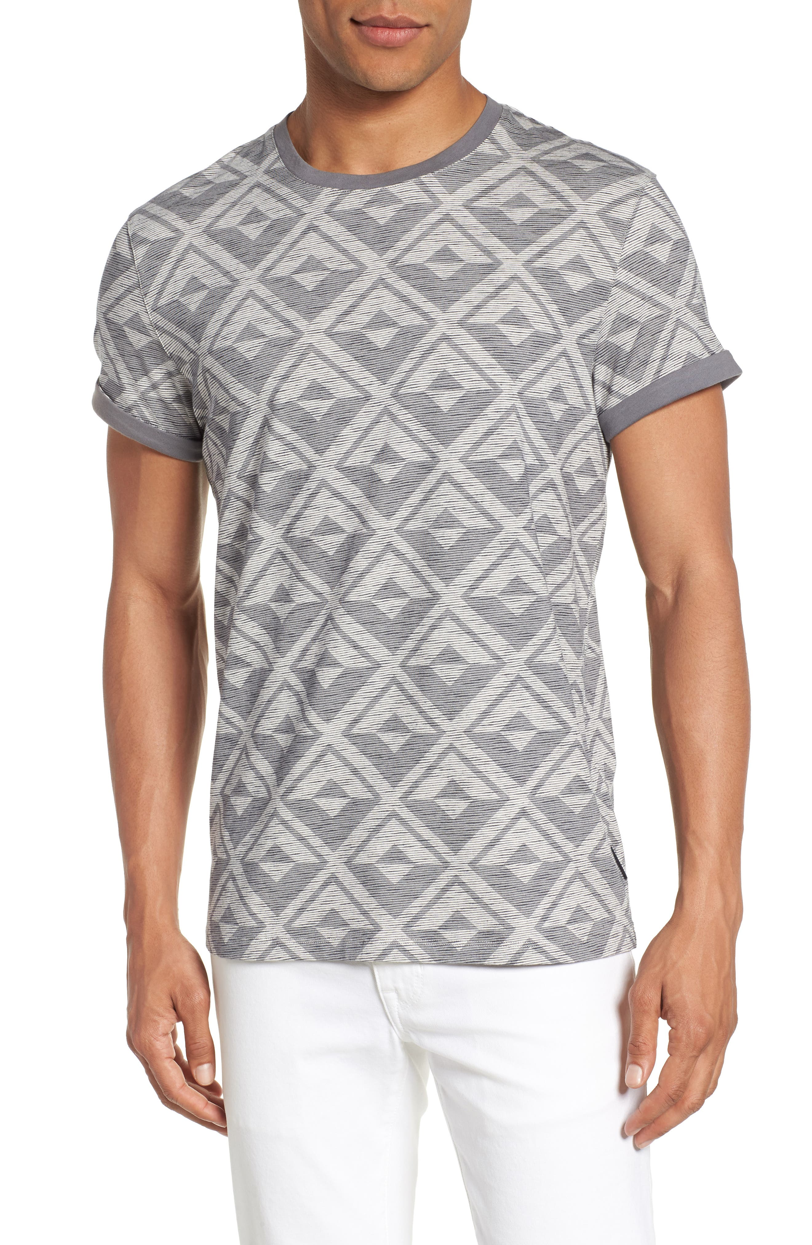 Geometric Crewneck T-Shirt,                             Main thumbnail 1, color,                             021