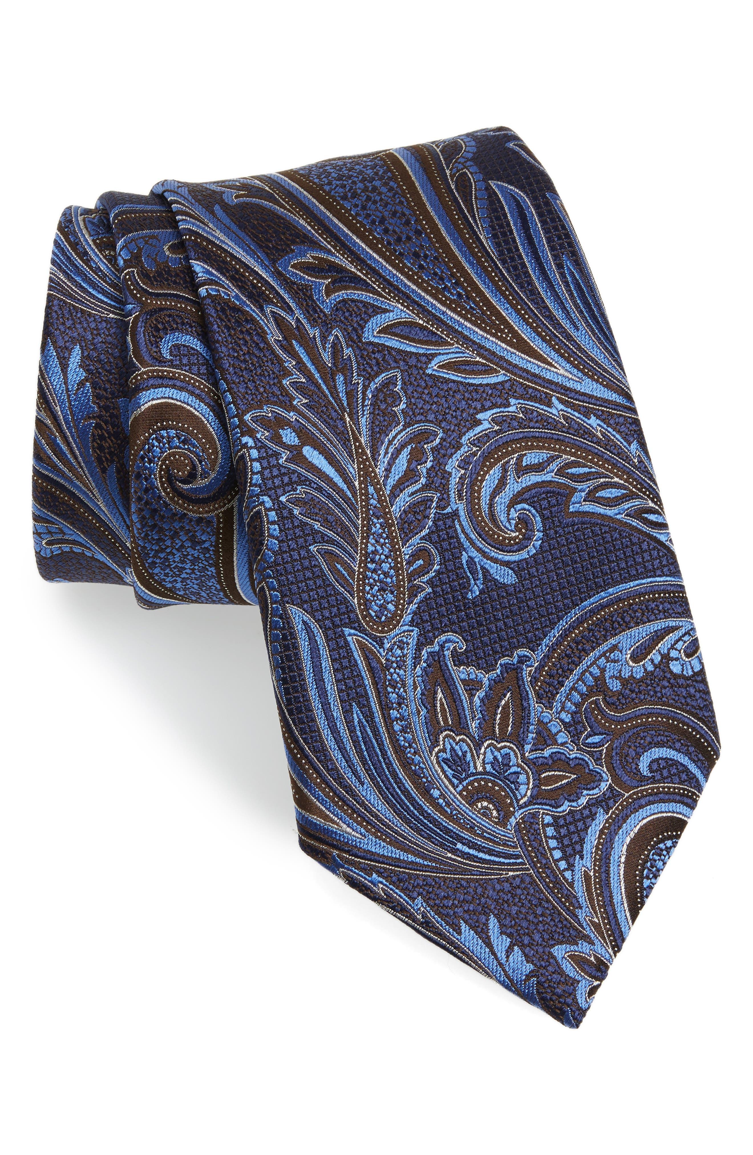 Paisley Silk Tie,                         Main,                         color, 418
