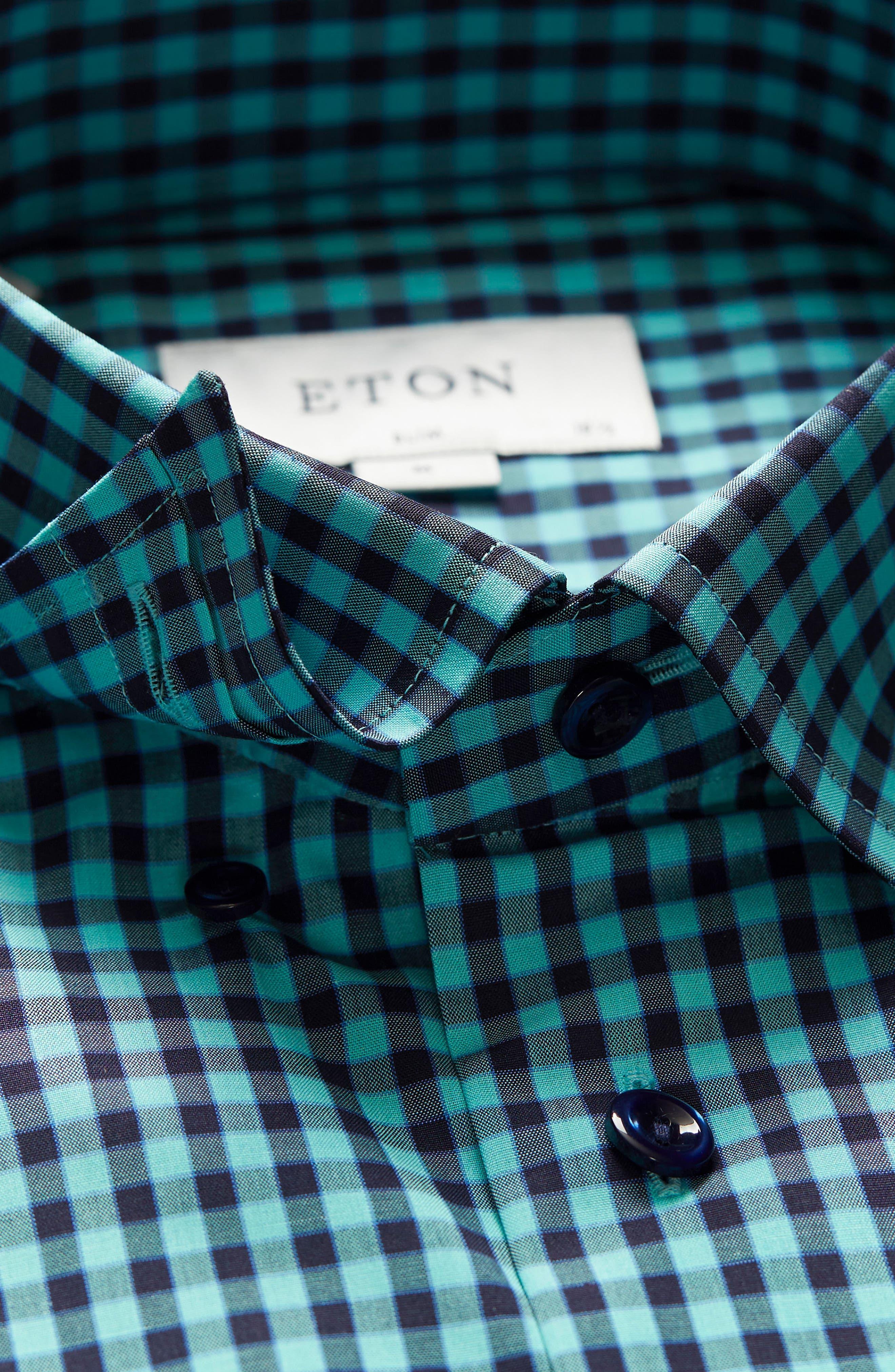 Slim Fit Check Dress Shirt,                             Alternate thumbnail 3, color,                             440