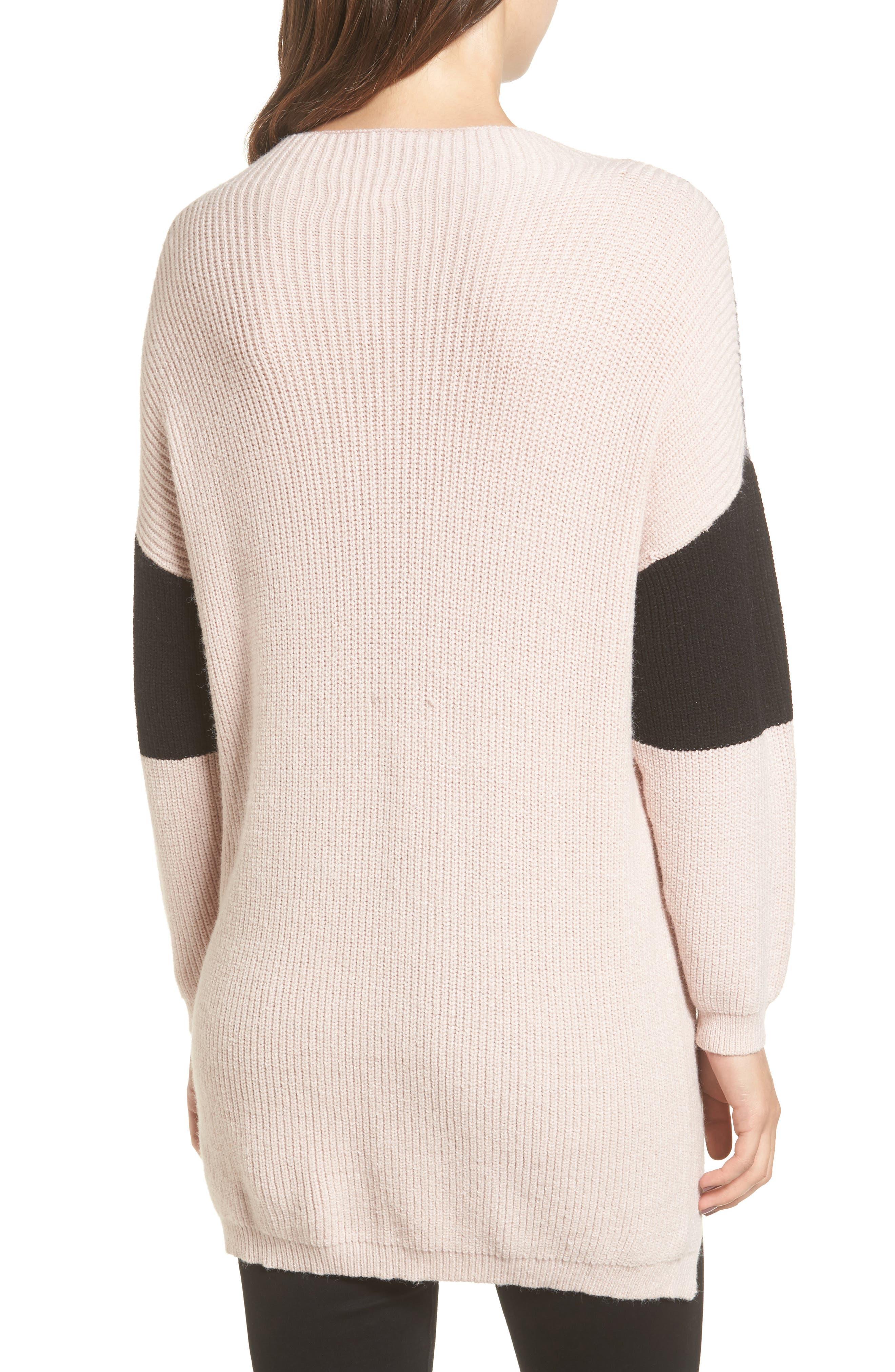 Colorblock Tunic Sweater,                             Alternate thumbnail 2, color,