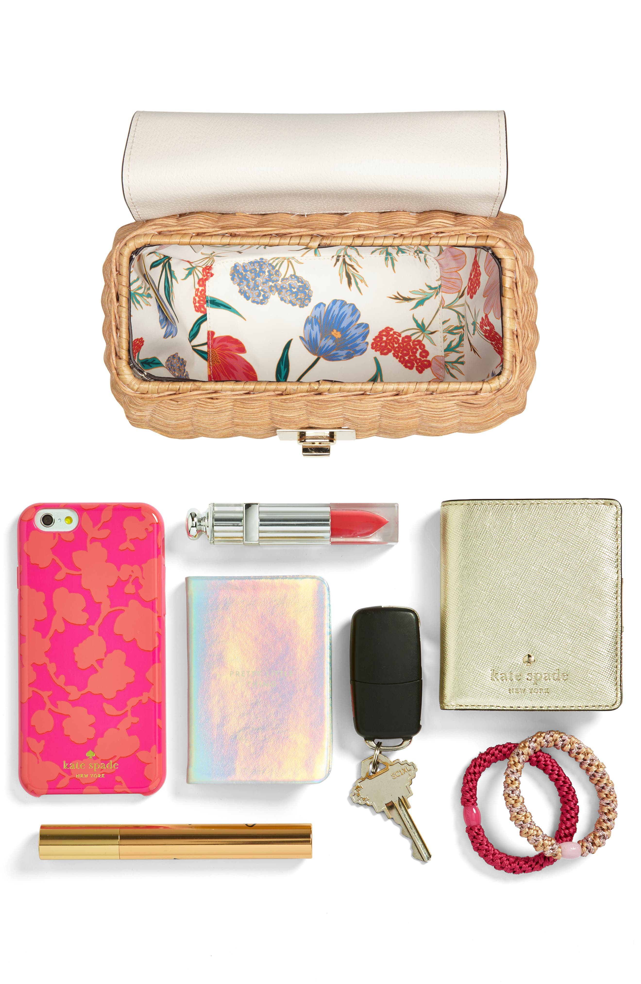 bloom street - justina wicker satchel,                             Alternate thumbnail 7, color,                             200