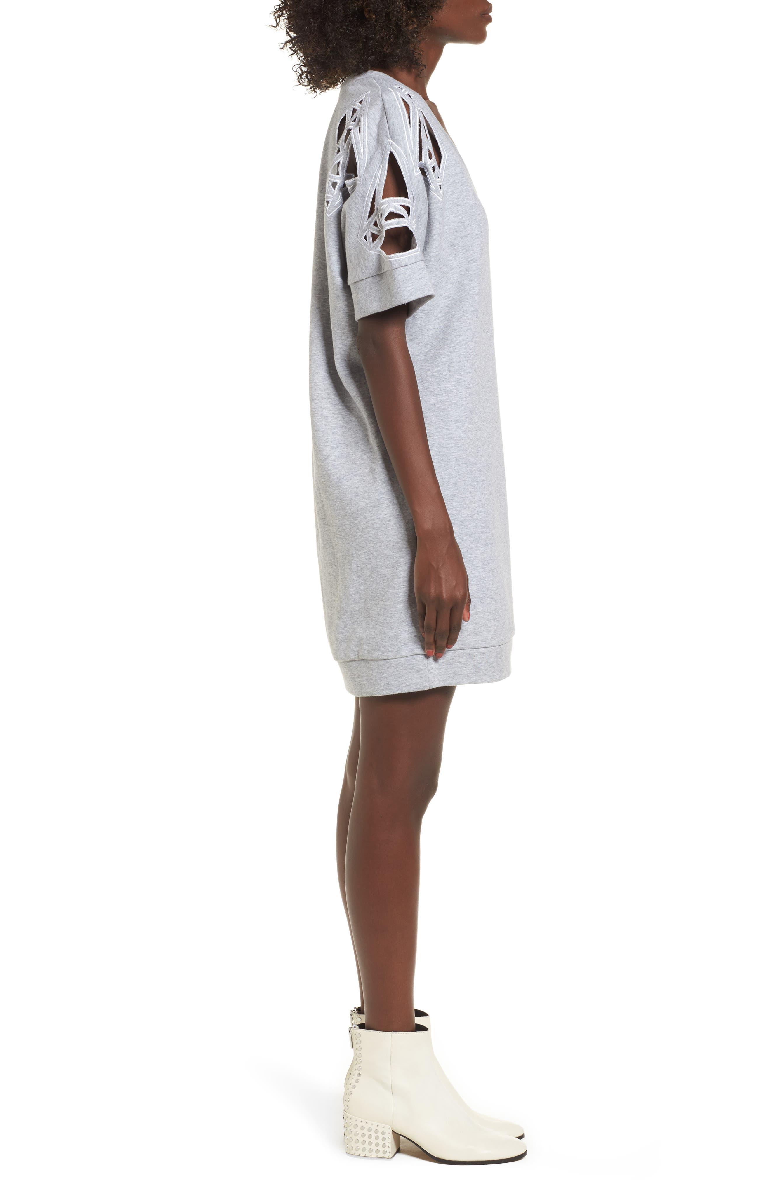 Daffic Sweatshirt Dress,                             Alternate thumbnail 3, color,                             020