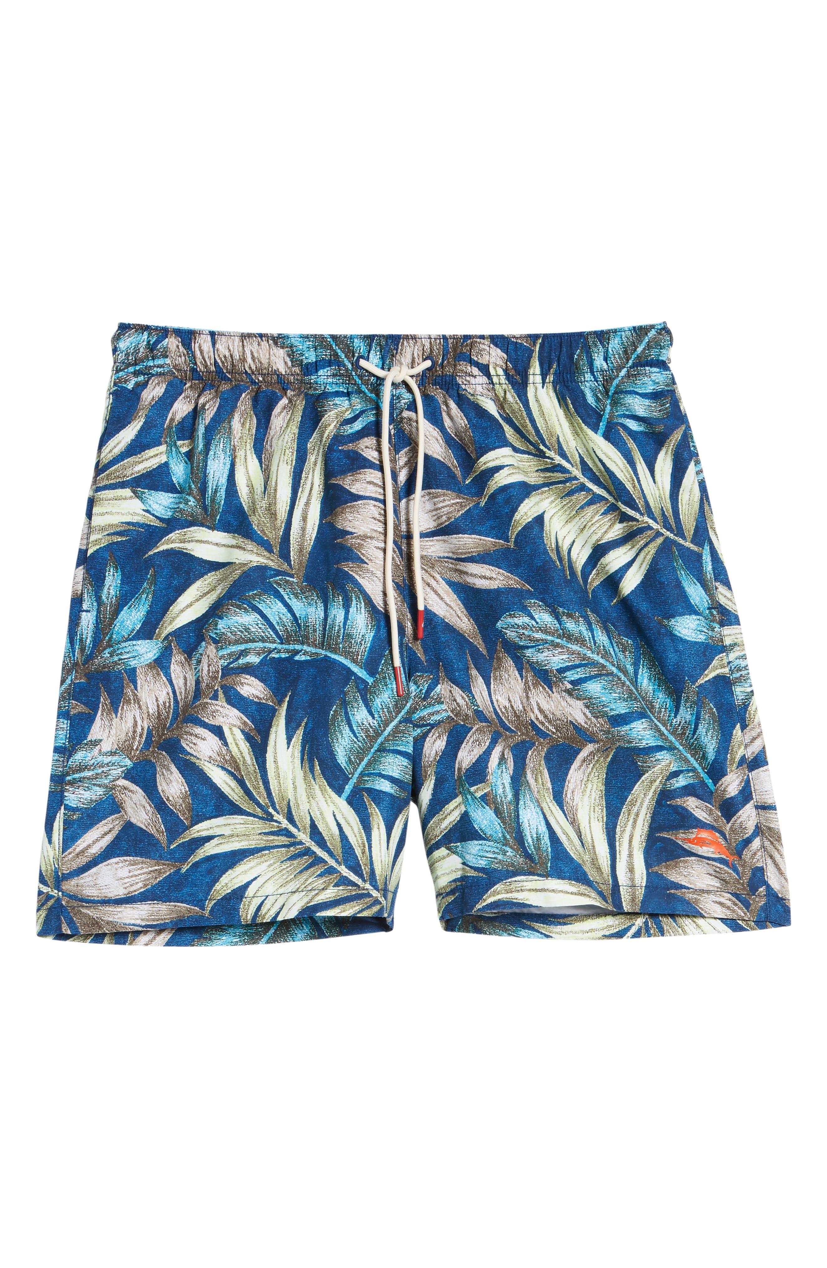 Naples Parque Palms Swim Trunks,                             Alternate thumbnail 6, color,                             400